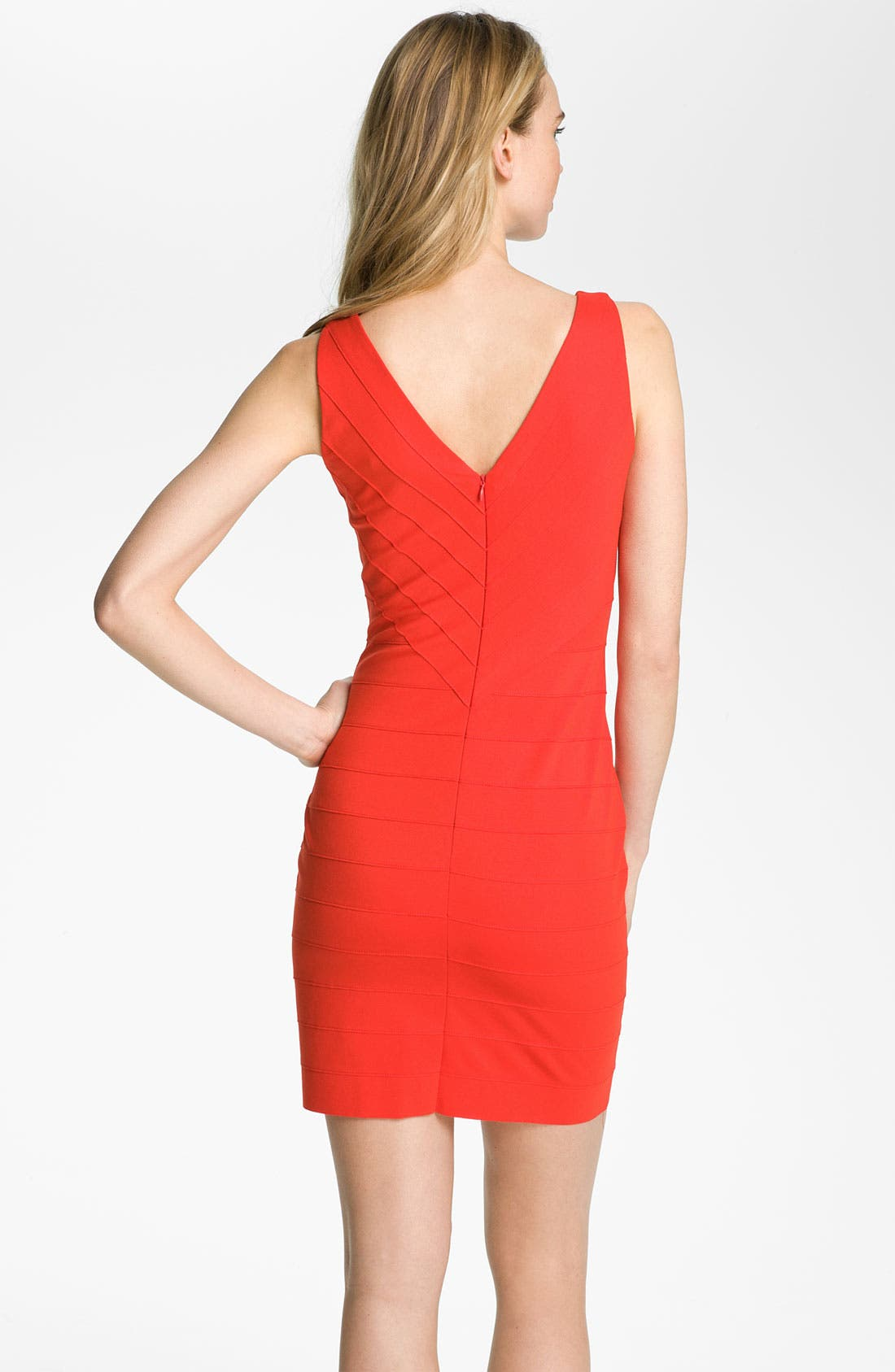 Alternate Image 2  - BB Dakota V-Neck Banded Ponte Sheath Dress