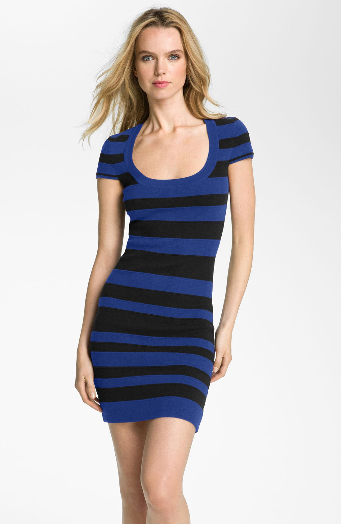 Main Image - French Connection 'Bands of Color' Stripe Bandage Dress