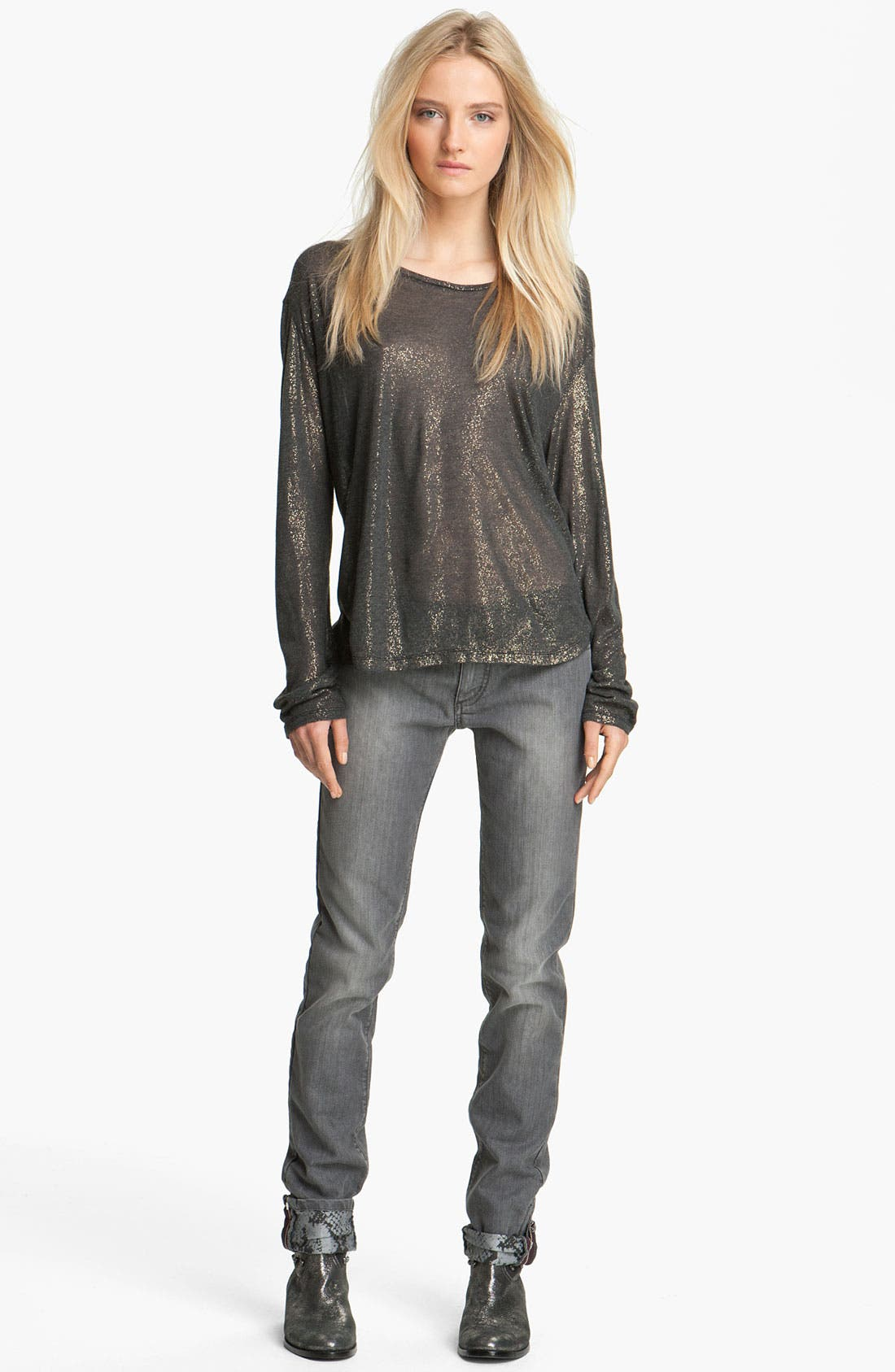 Alternate Image 1 Selected - Zadig & Voltaire 'Axy' Metallic Tee
