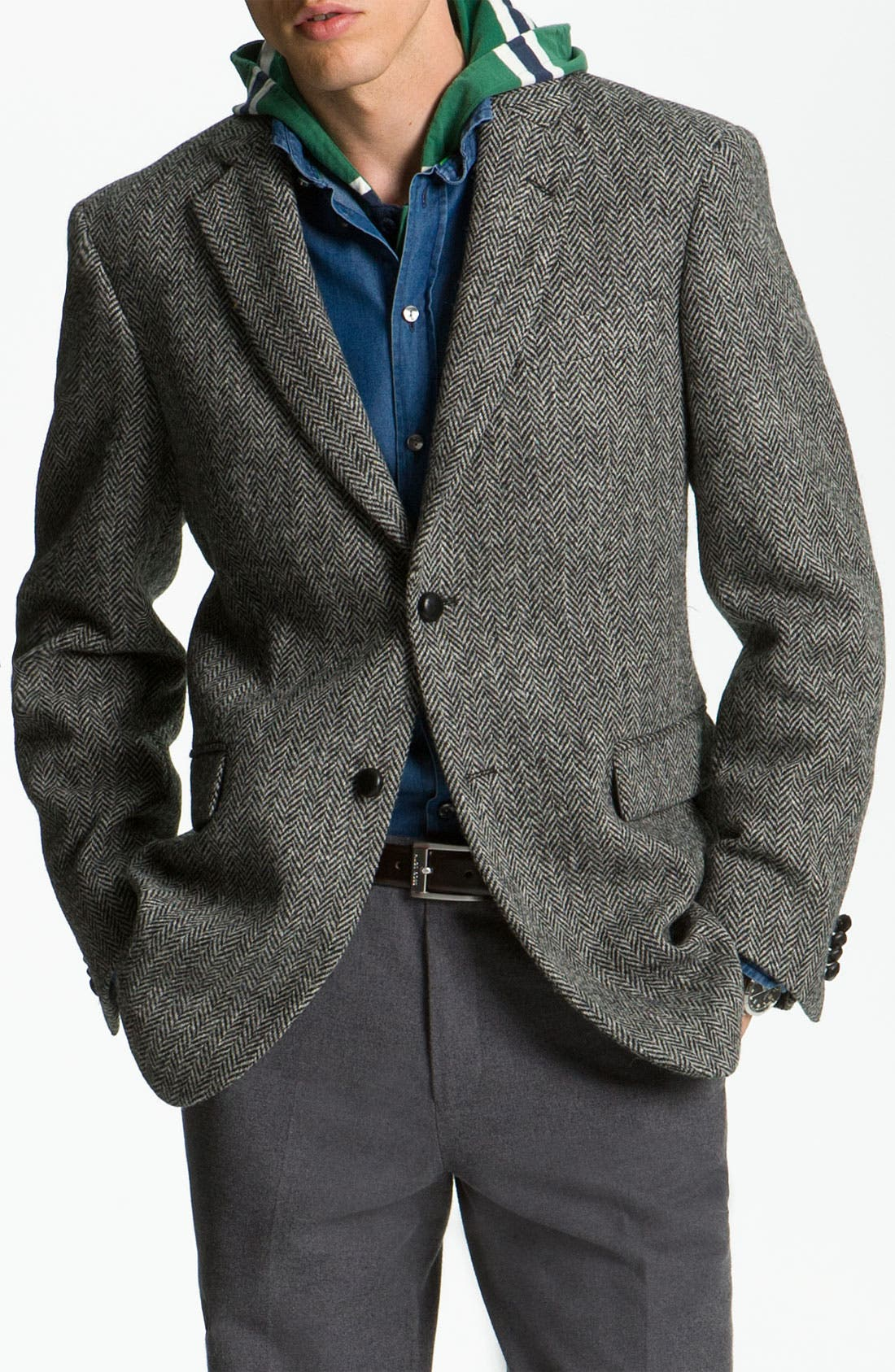 Alternate Image 1 Selected - John W. Nordstrom® Herringbone Sportcoat