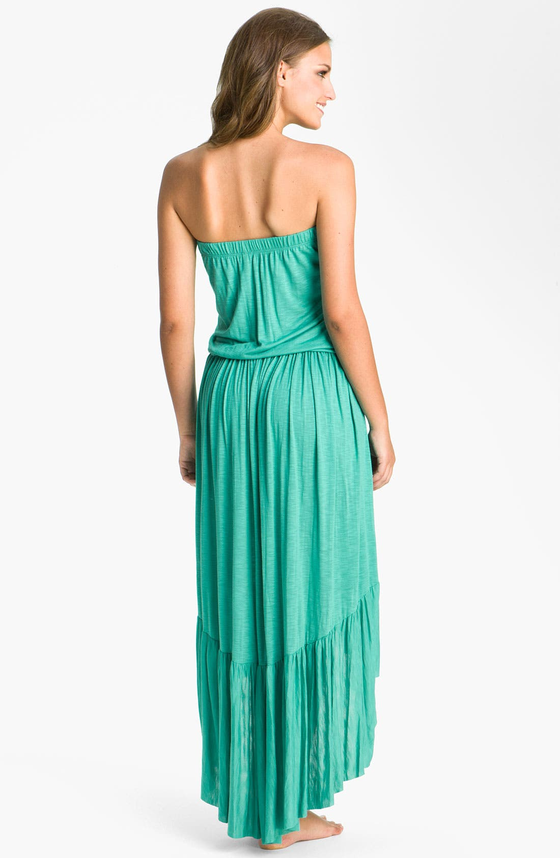 Alternate Image 2  - Elan Strapless Cover-Up Maxi Dress