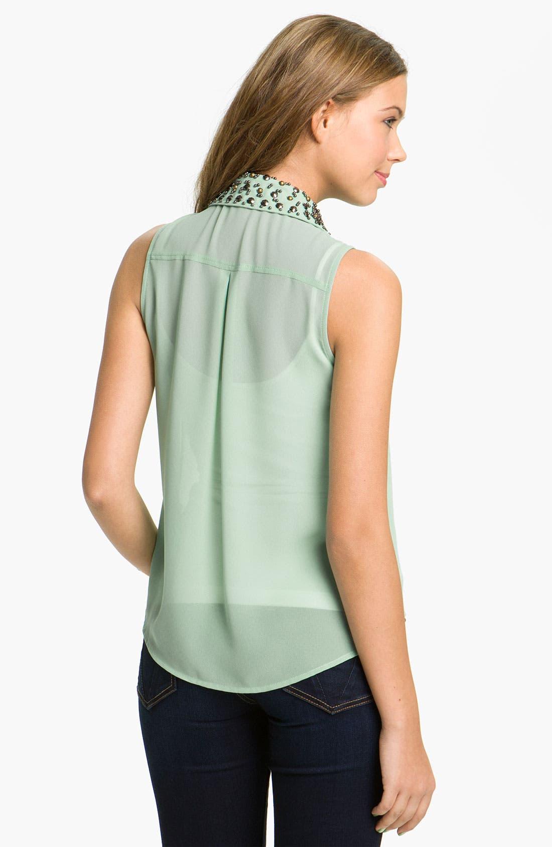 Alternate Image 2  - Lush Stud Collar Shirt (Juniors)