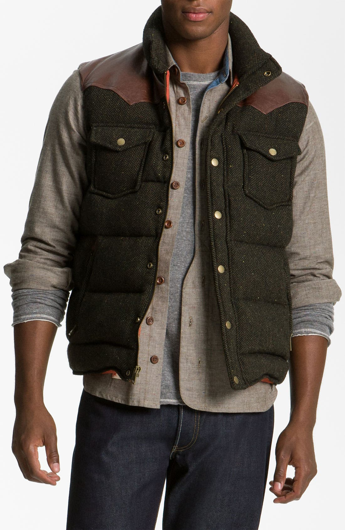 Main Image - Penfield 'Stapleton' Herringbone Tweed Down Vest