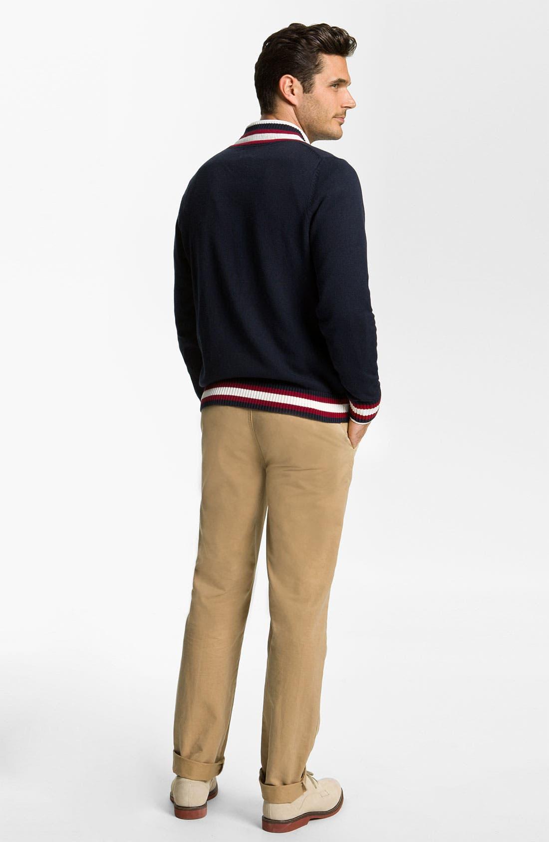 Alternate Image 5  - Brooks Brothers 'Cricket' V-Neck Cotton & Wool Sweater