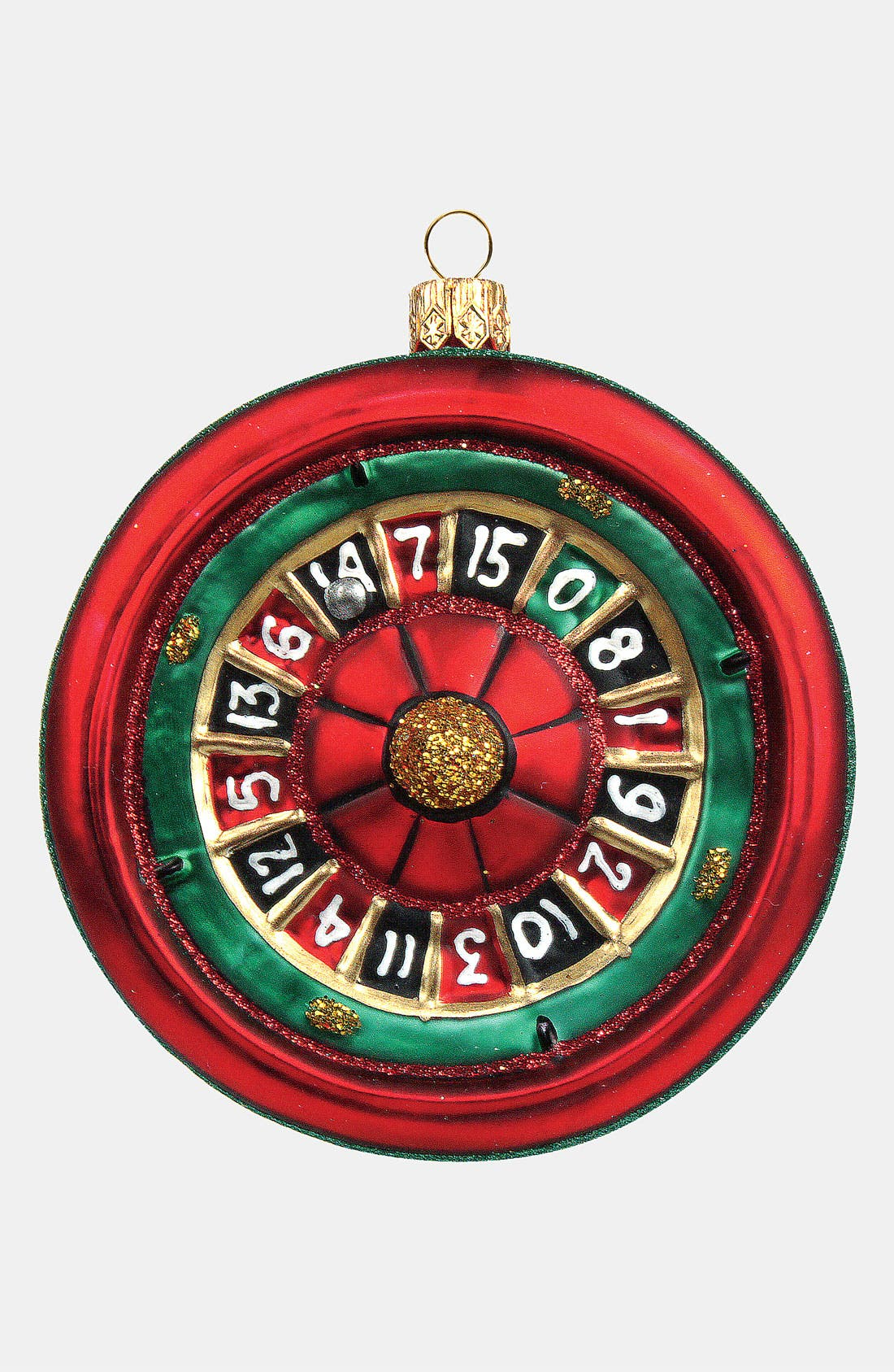 Alternate Image 1 Selected - Nordstrom at Home 'Roulette Wheel' Glass Ornament