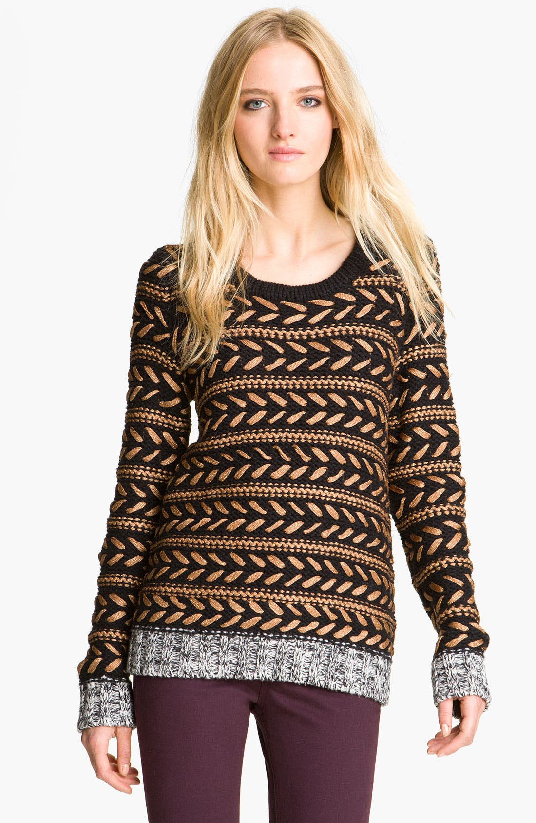 Alternate Image 1 Selected - rag & bone 'Lisbeth' Contrast Crewneck Sweater