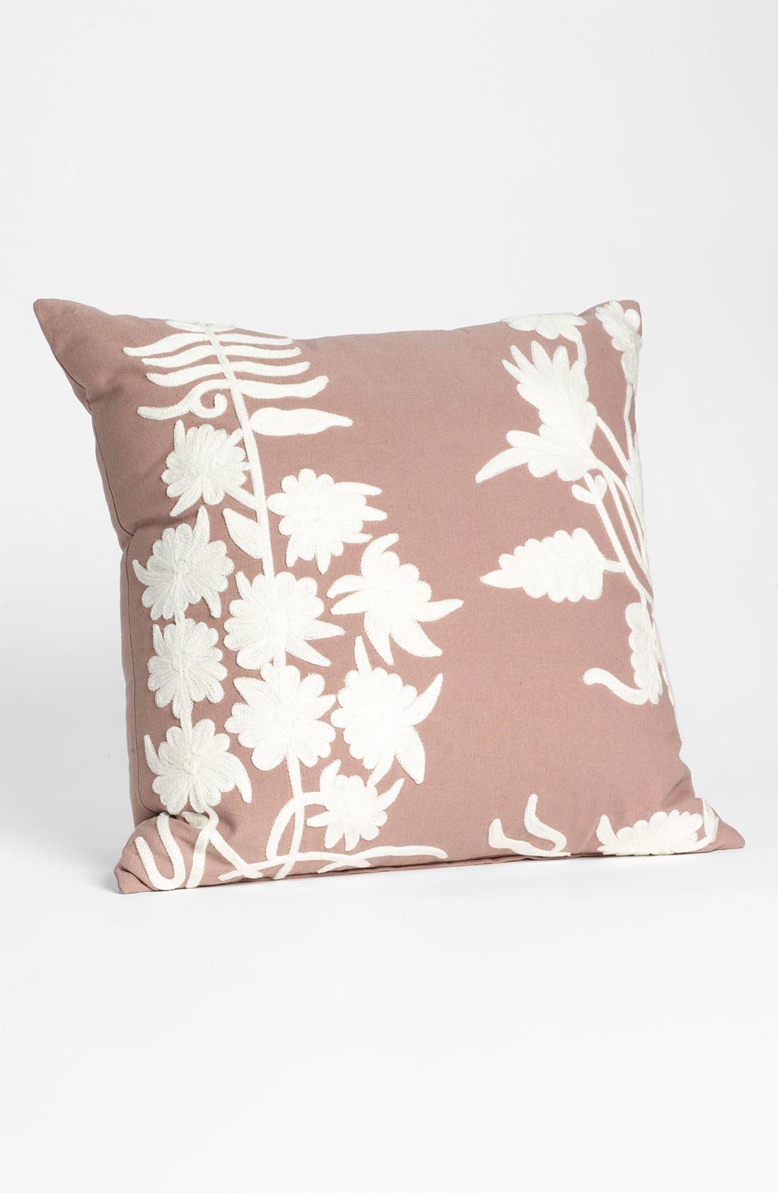 Main Image - Mina Victory Floral Crewel Pillow