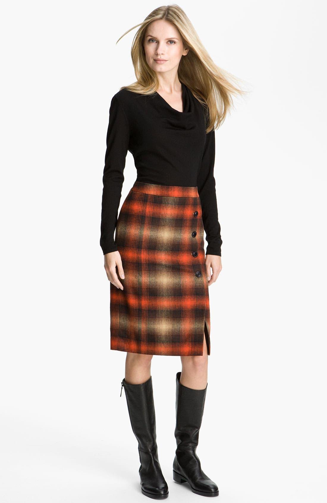 Alternate Image 4  - Classiques Entier® 'Felise' Plaid Pencil Skirt