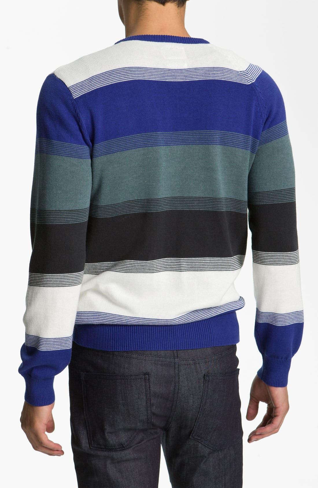Alternate Image 2  - Volcom Block Stripe V-Neck Sweater