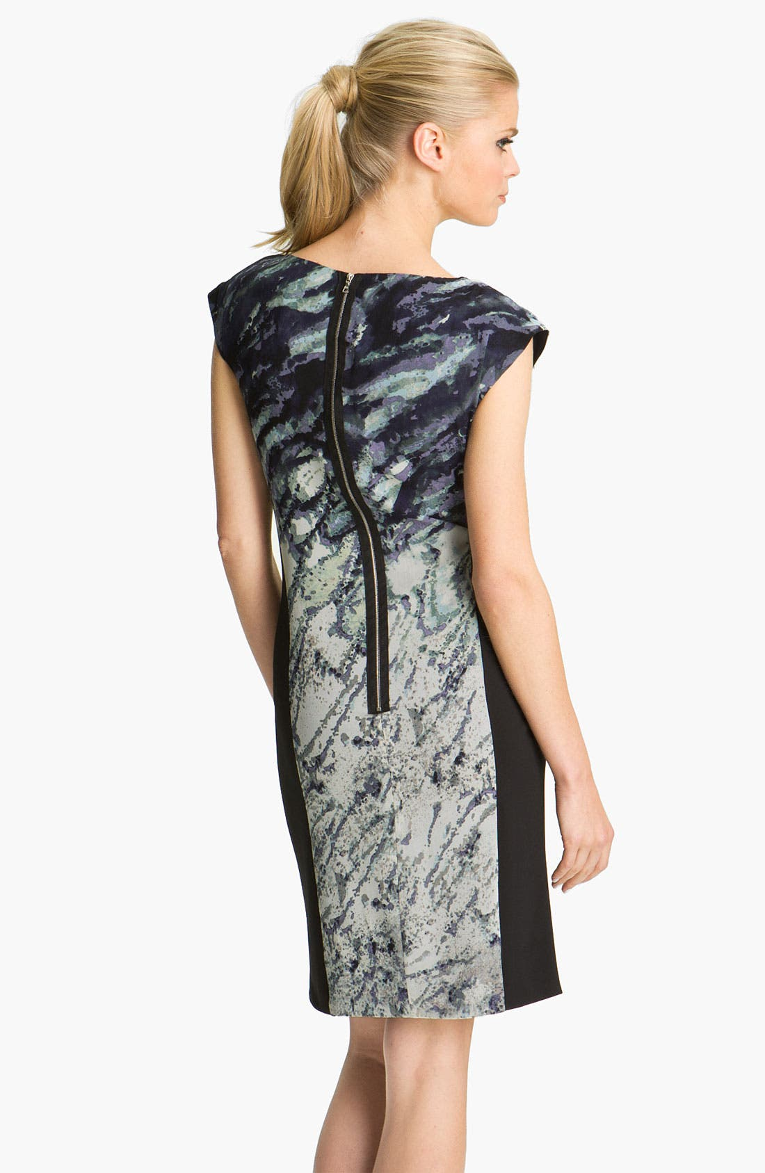 Alternate Image 2  - Suzi Chin for Maggy Boutique Asymmetrical Draped Silk Dress