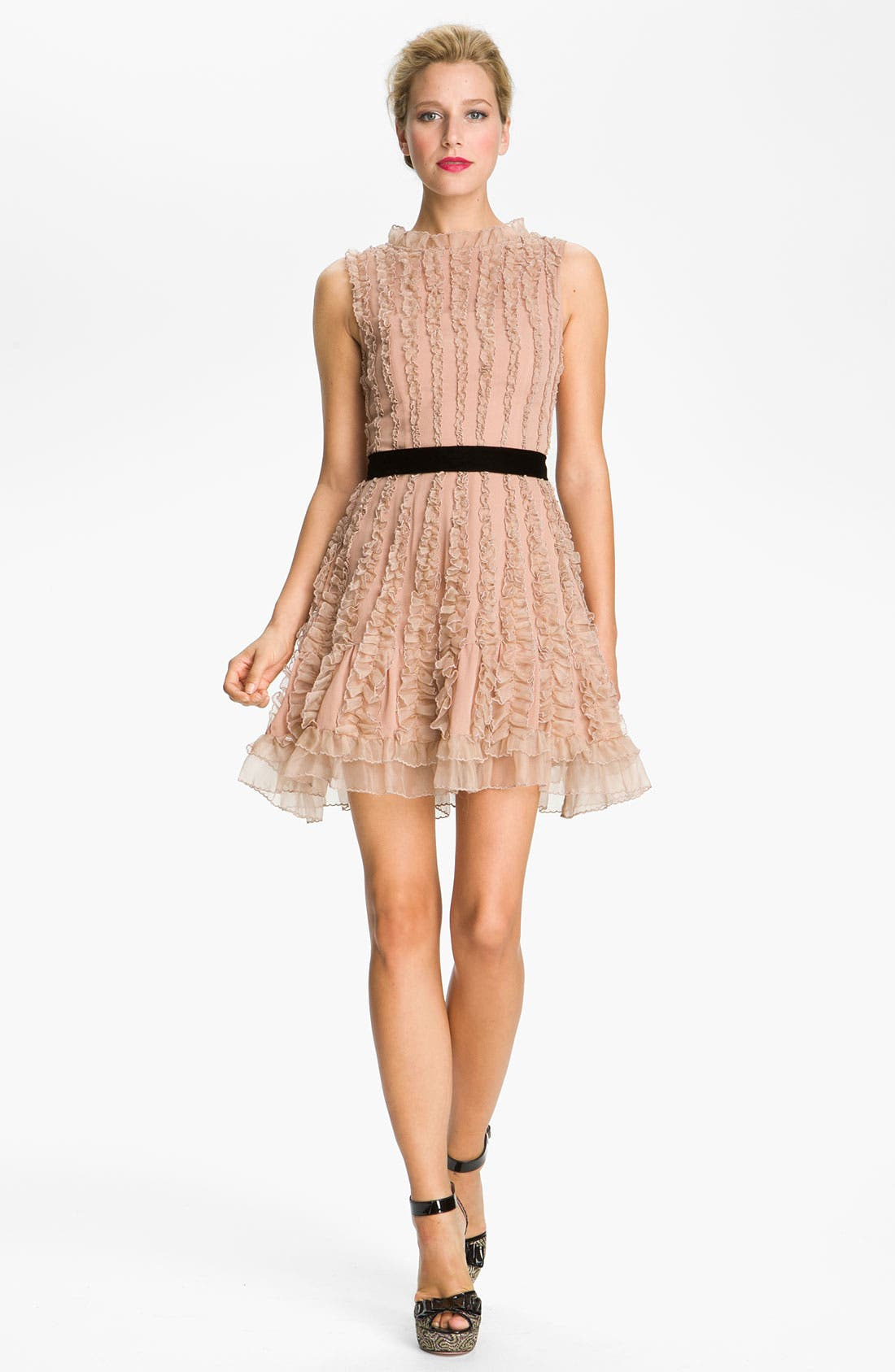 Alternate Image 1 Selected - RED Valentino Lace Detail Dress