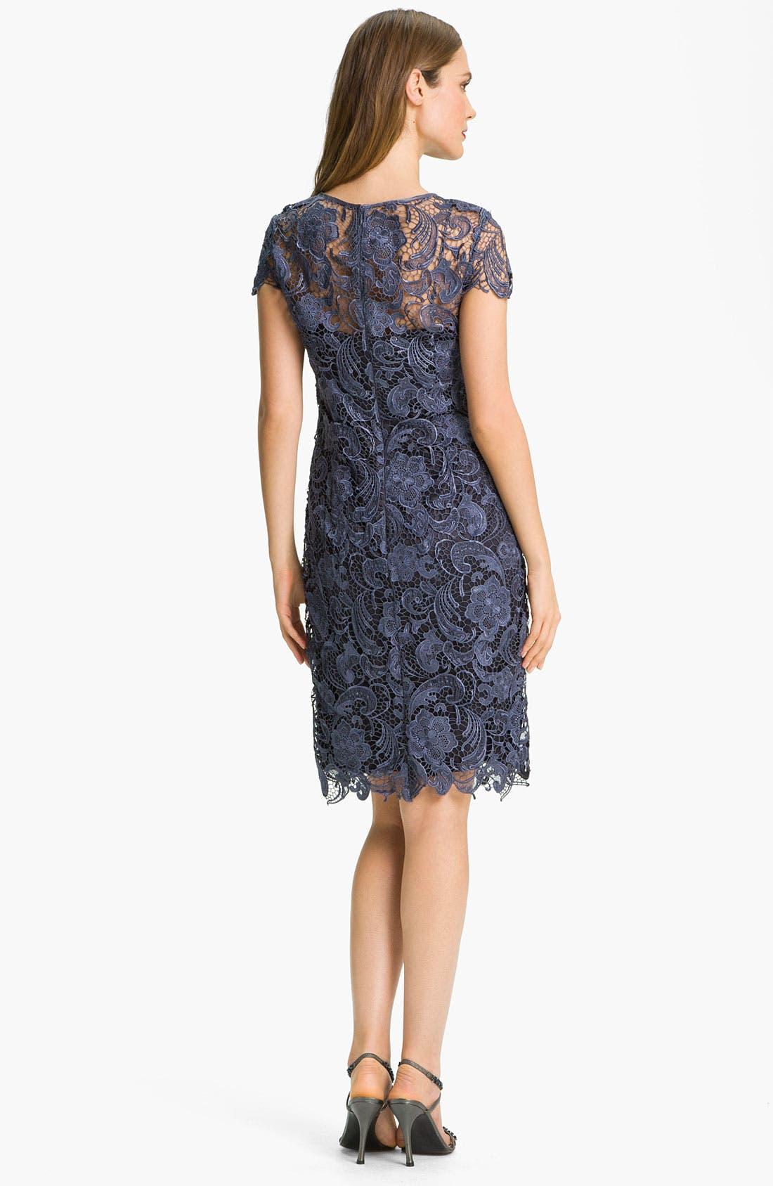 Alternate Image 2  - Patra Crocheted Venise Lace Sheath Dress