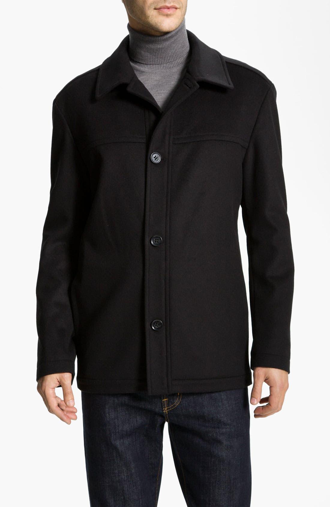 Main Image - BOSS Black 'Chester' Regular Fit Wool Blend Coat