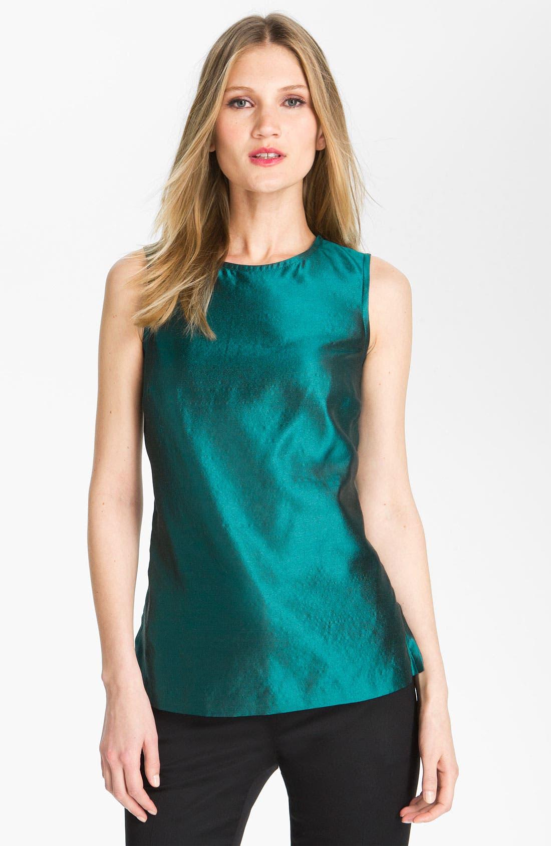 Alternate Image 1 Selected - St. John Collection Wool & Silk Taffeta Tunic