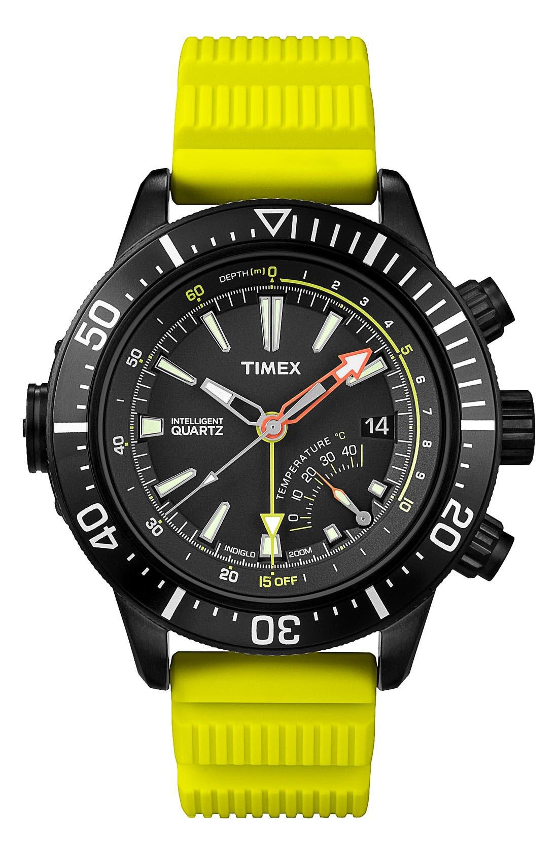 Alternate Image 1 Selected - Timex® 'Intelligent Quartz' Depth Gauge Resin Strap Watch