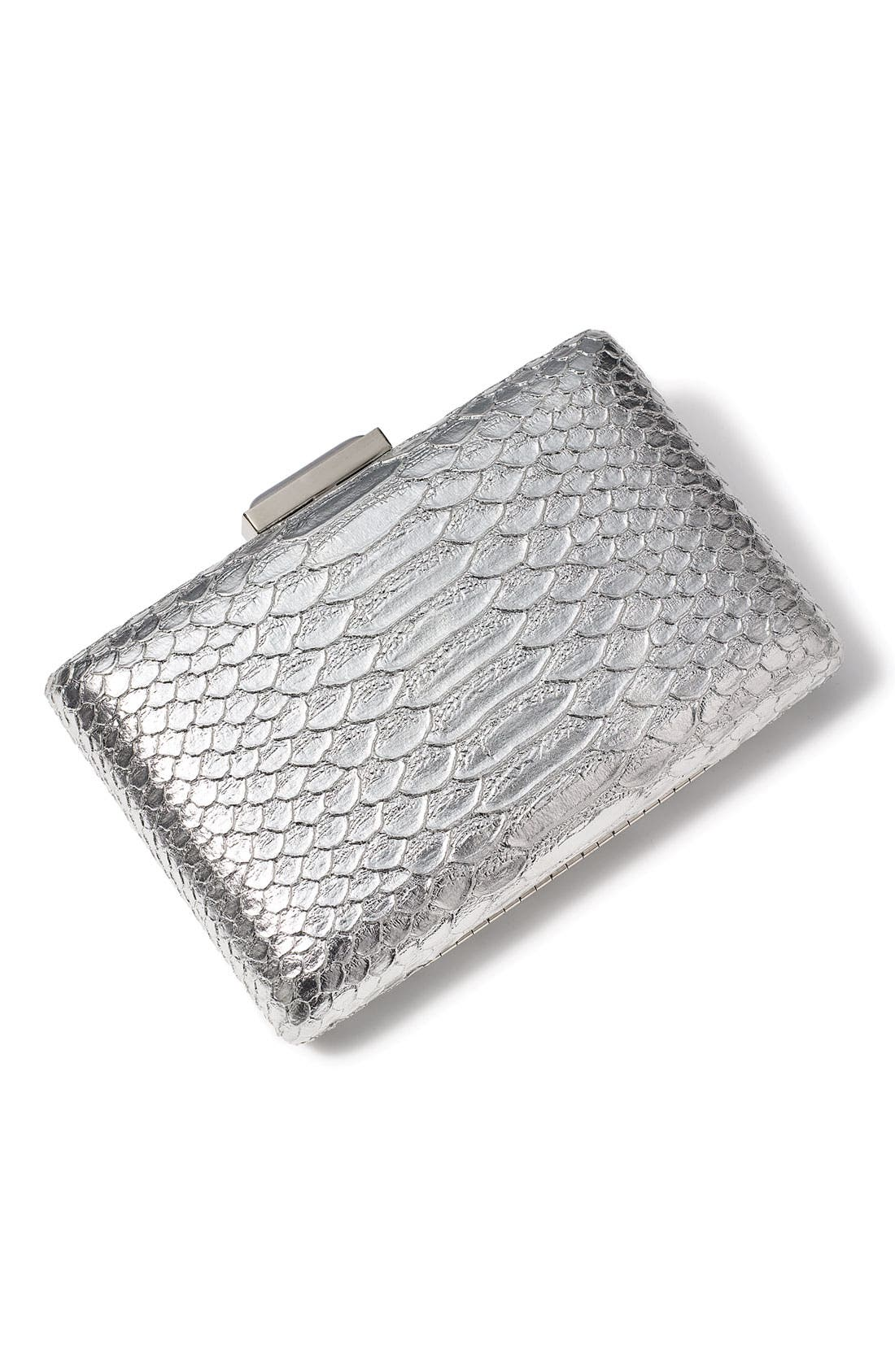 Alternate Image 2  - Expressions NYC Snake Embossed Box Clutch