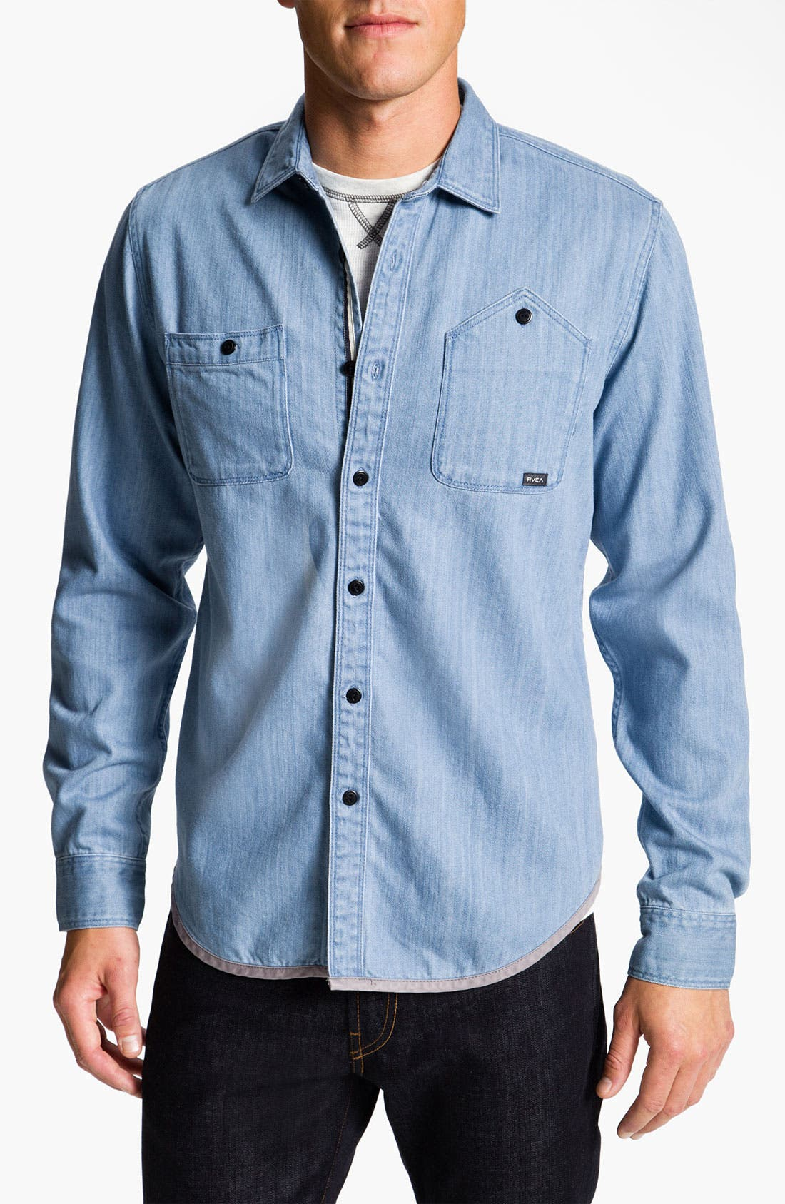 Alternate Image 1 Selected - RVCA 'Bound' Chambray Woven Shirt