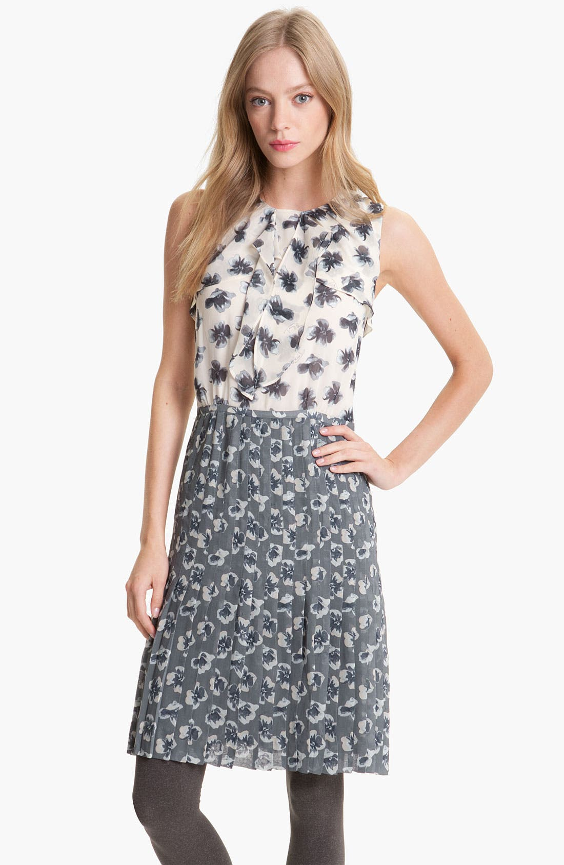 Main Image - Tory Burch 'Cecilia' A-Line Silk Dress