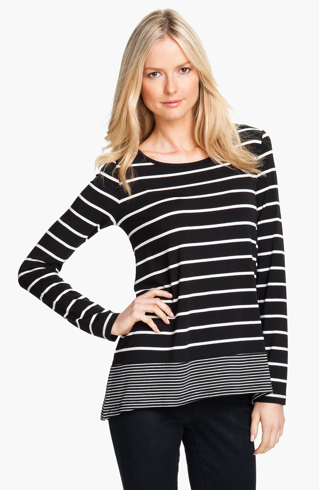 Alternate Image 1 Selected - Isaac Mizrahi Jeans 'Bethany' Stripe Top