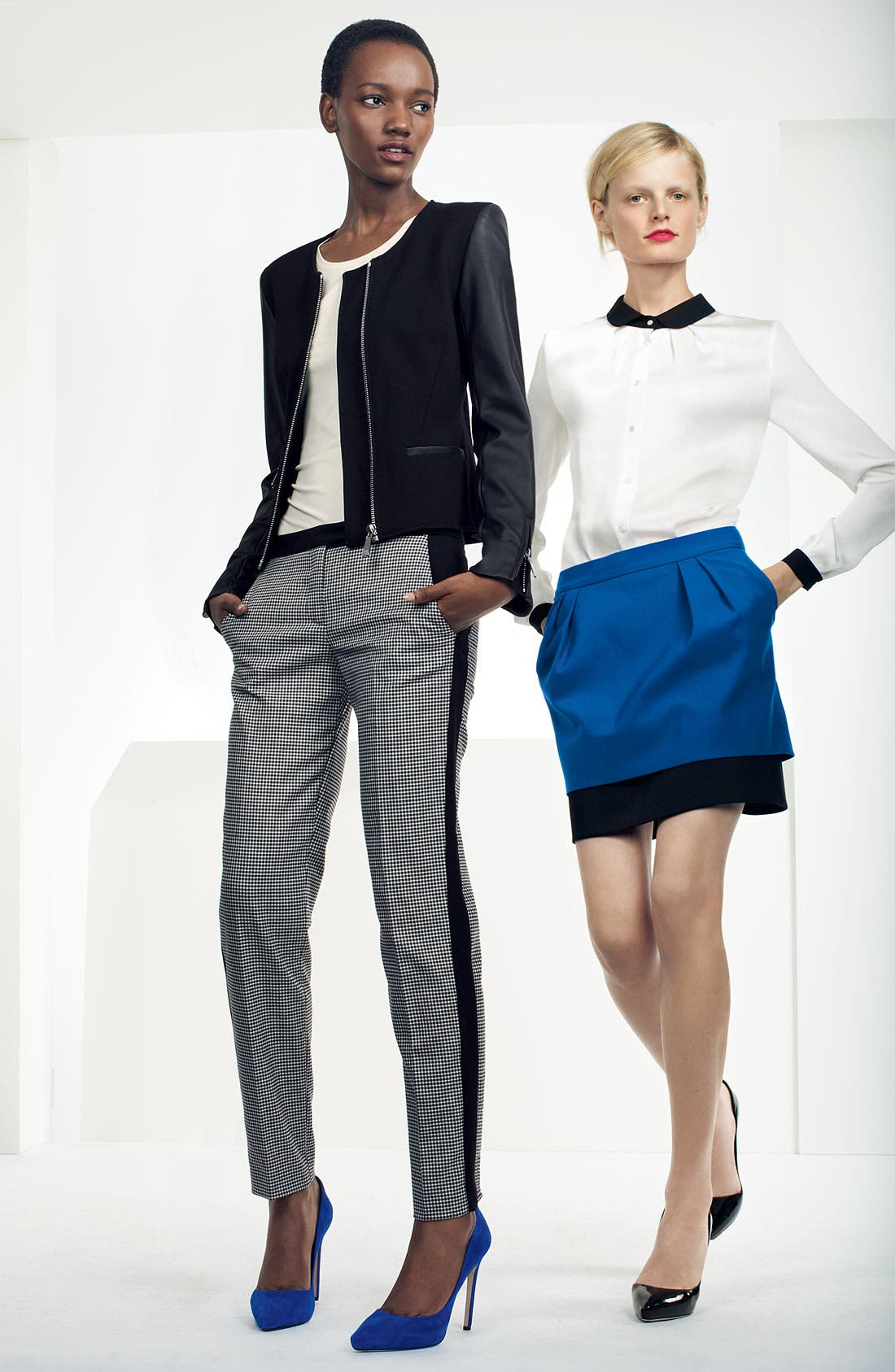 Alternate Image 5  - Vince Camuto Colorblock Houndstooth Ankle Pants