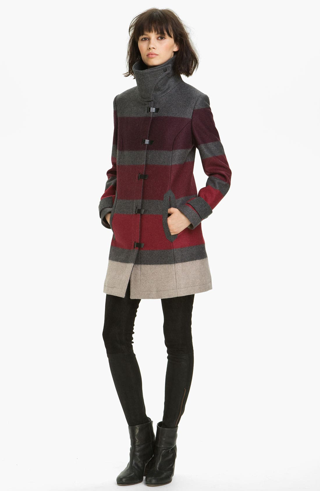 Main Image - rag & bone 'Rochelle' Stripe Wool Blend Coat
