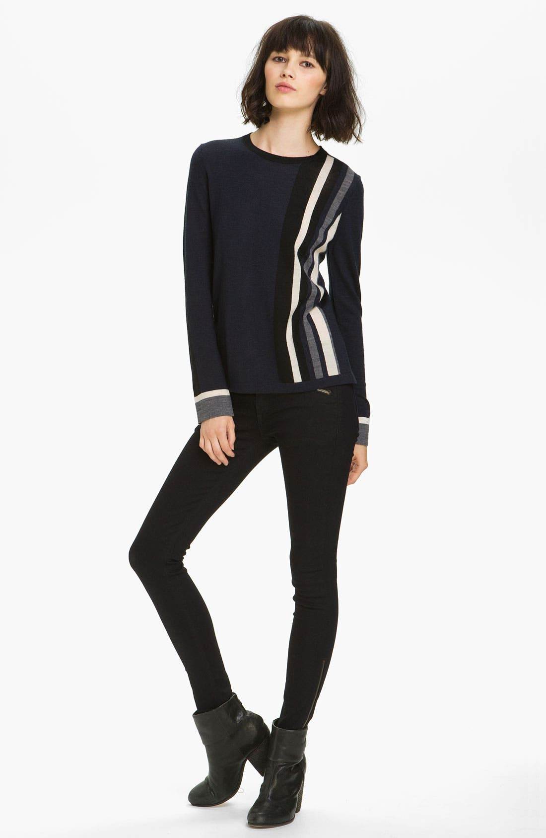 Main Image - rag & bone Racing Stripe Pullover