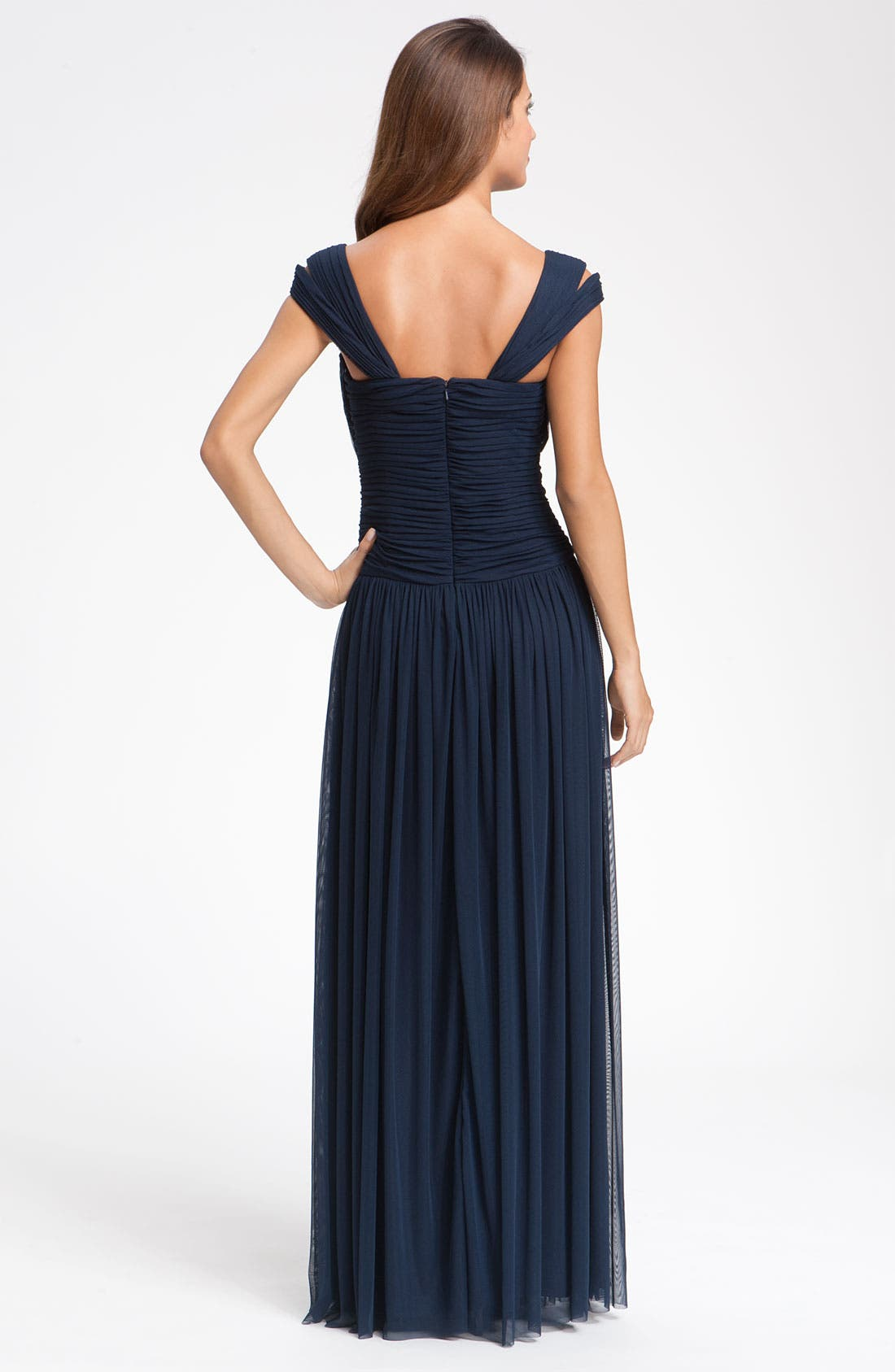 Alternate Image 2  - JS Collections Beaded Mesh Gown (Petite)