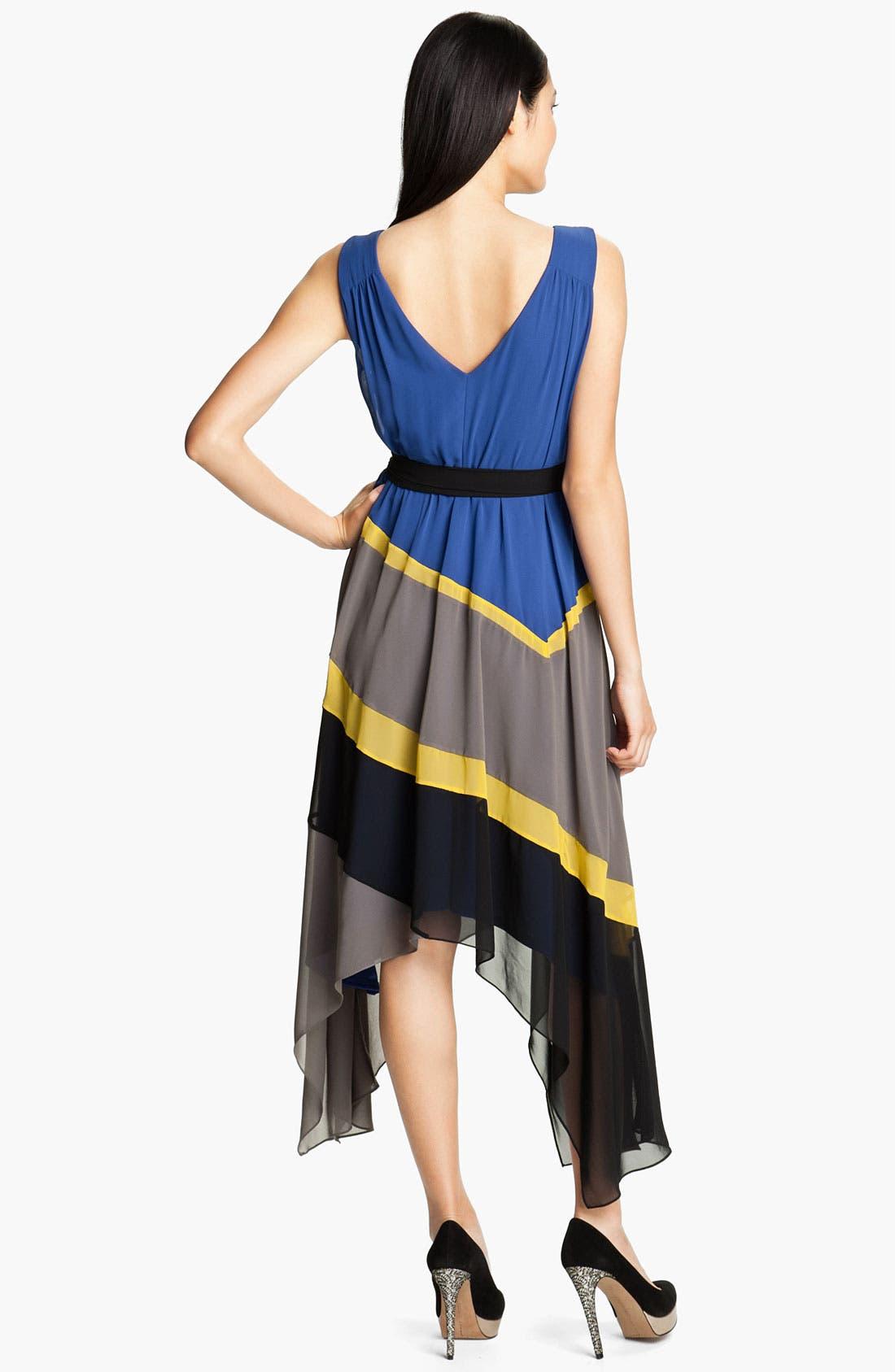 Alternate Image 2  - Max & Cleo 'Jamie' Colorblock Chiffon Dress