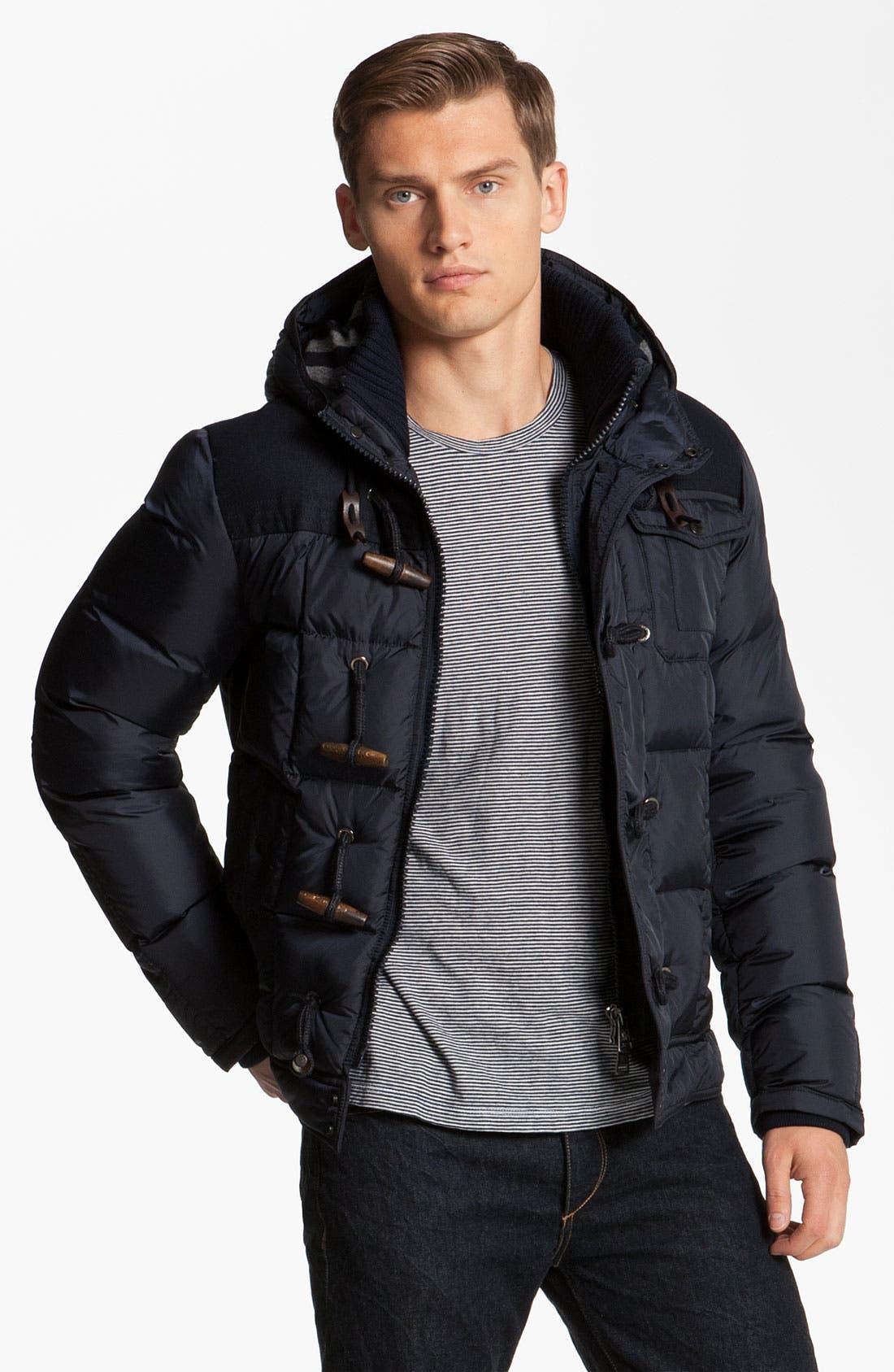 Alternate Image 1 Selected - Moncler 'Virgile' Hooded Quilted Bomber Jacket