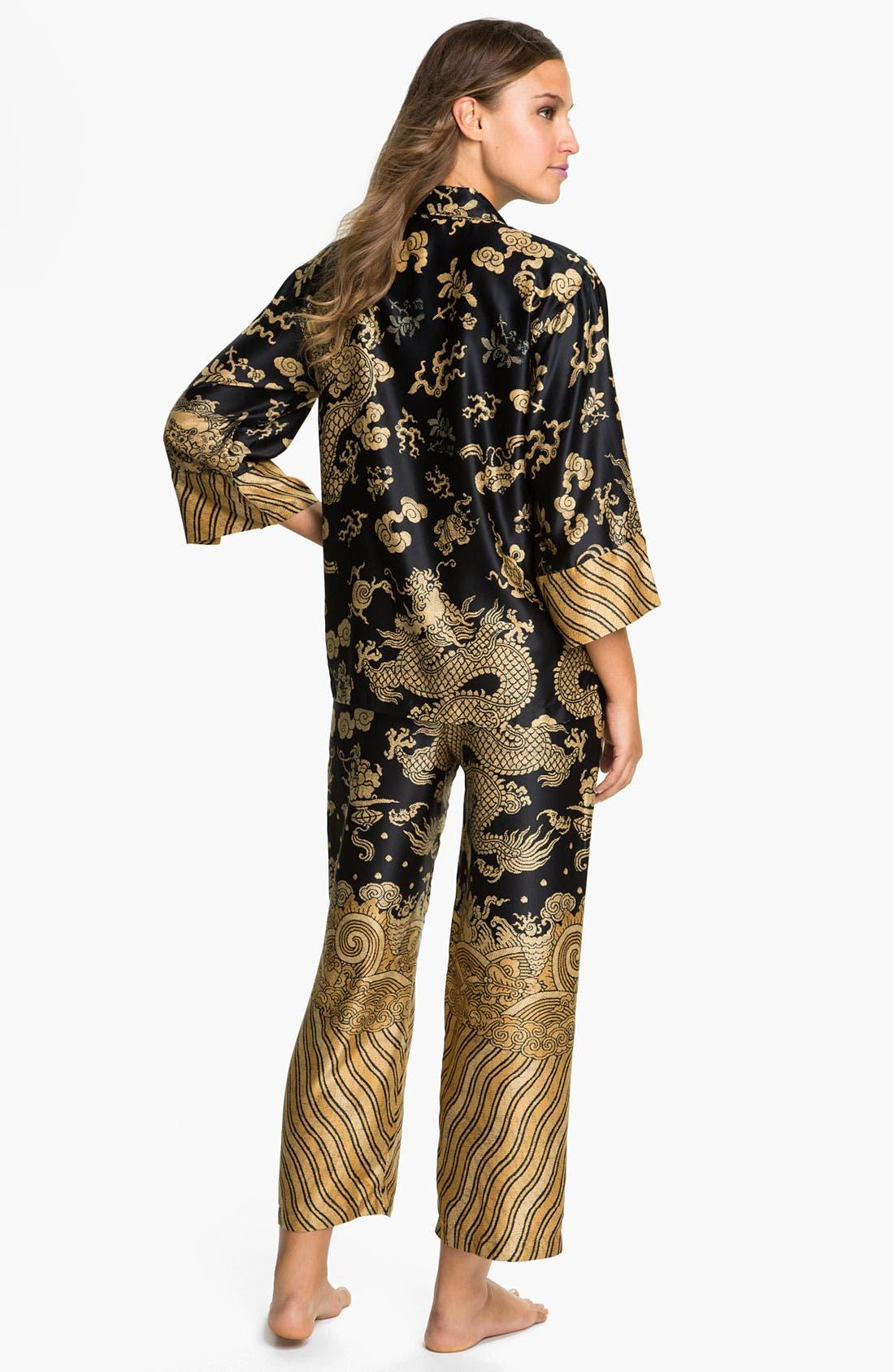 Alternate Image 2  - Natori 'Dragon' Pajamas