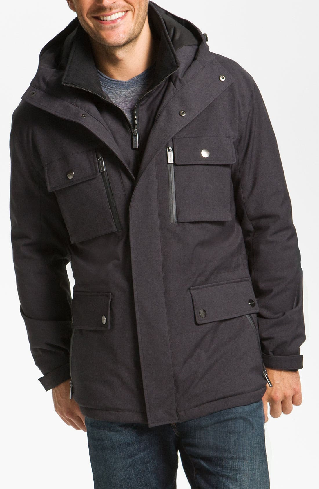 Alternate Image 1 Selected - Michael Kors 'Concord' Twill Parka