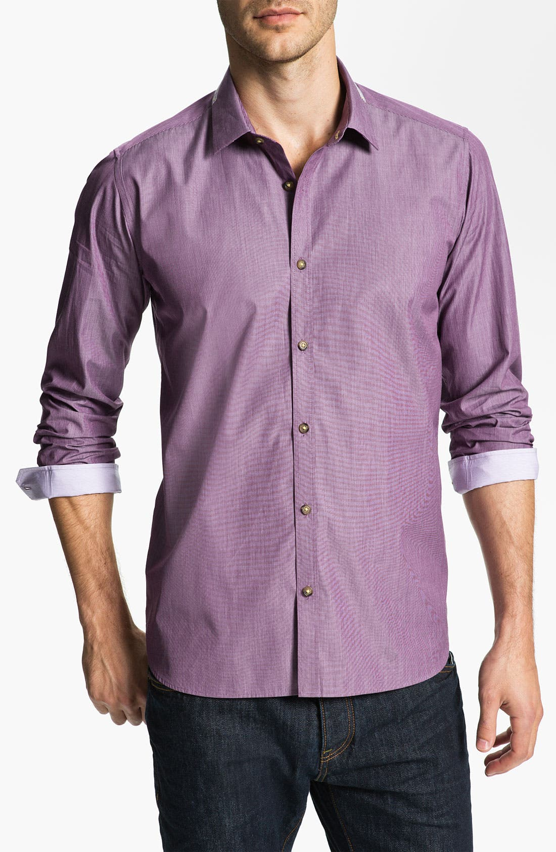 Alternate Image 1 Selected - Ted Baker London 'Autun' Sport Shirt