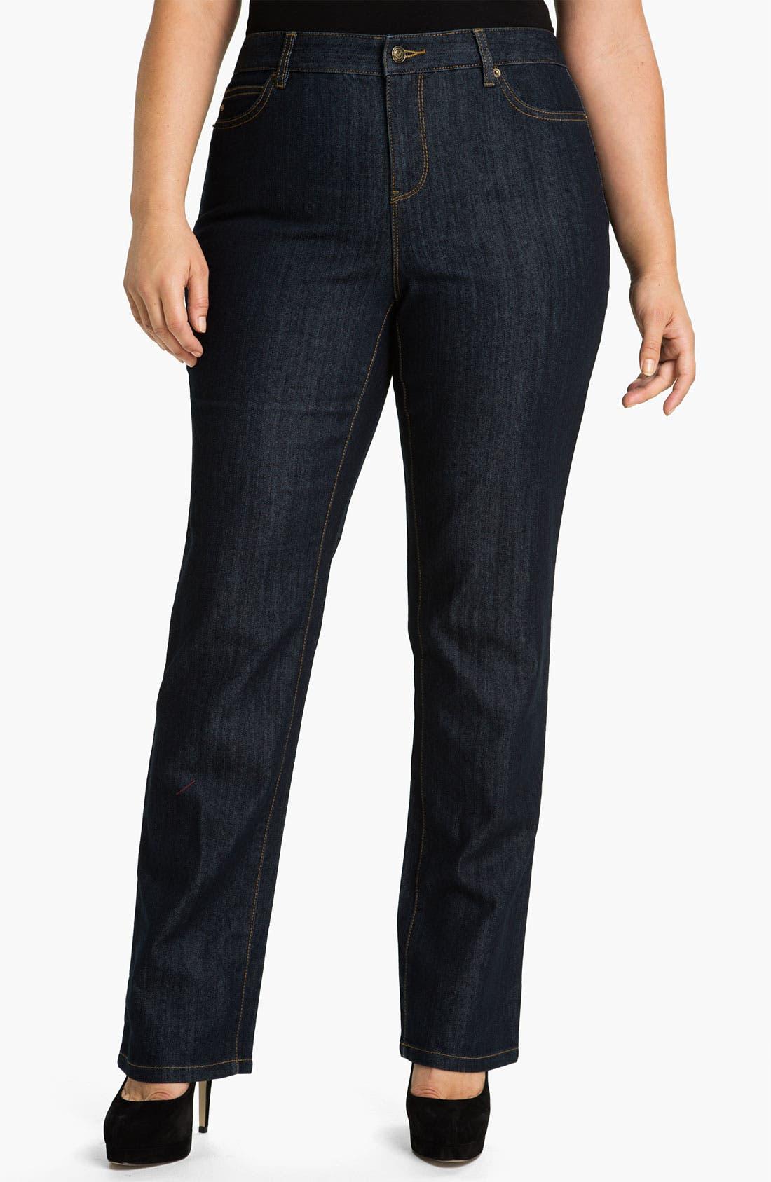 Alternate Image 1 Selected - MICHAEL Michael Kors Dark Wash Skinny Jeans (Plus)
