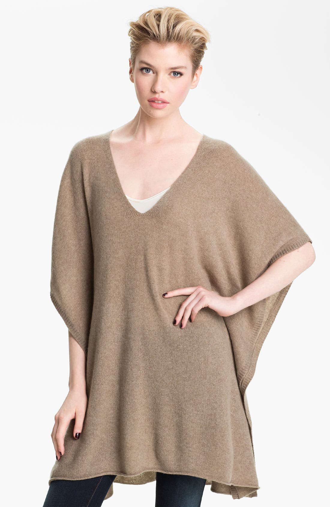 Main Image - Nordstrom Collection Tie Back Cashmere Topper