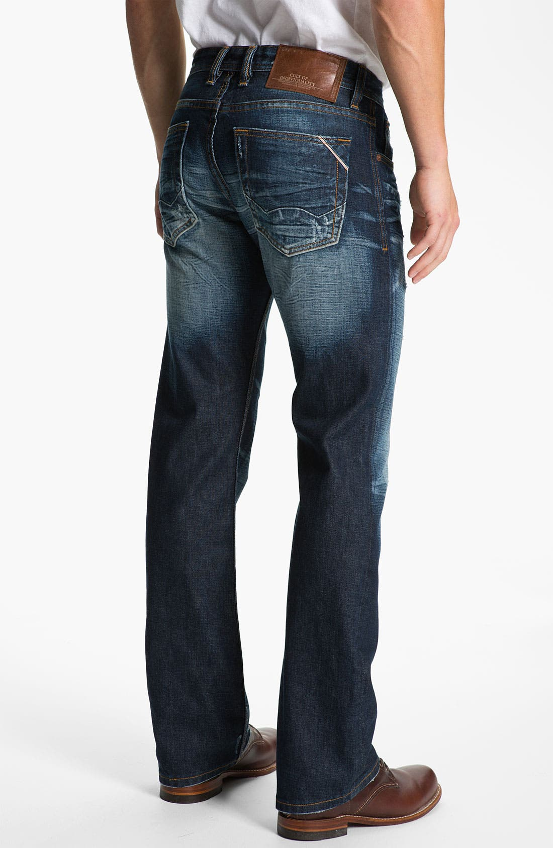 Main Image - Cult of Individuality 'Harley' Relaxed Straight Leg Jeans (Dark Blue)