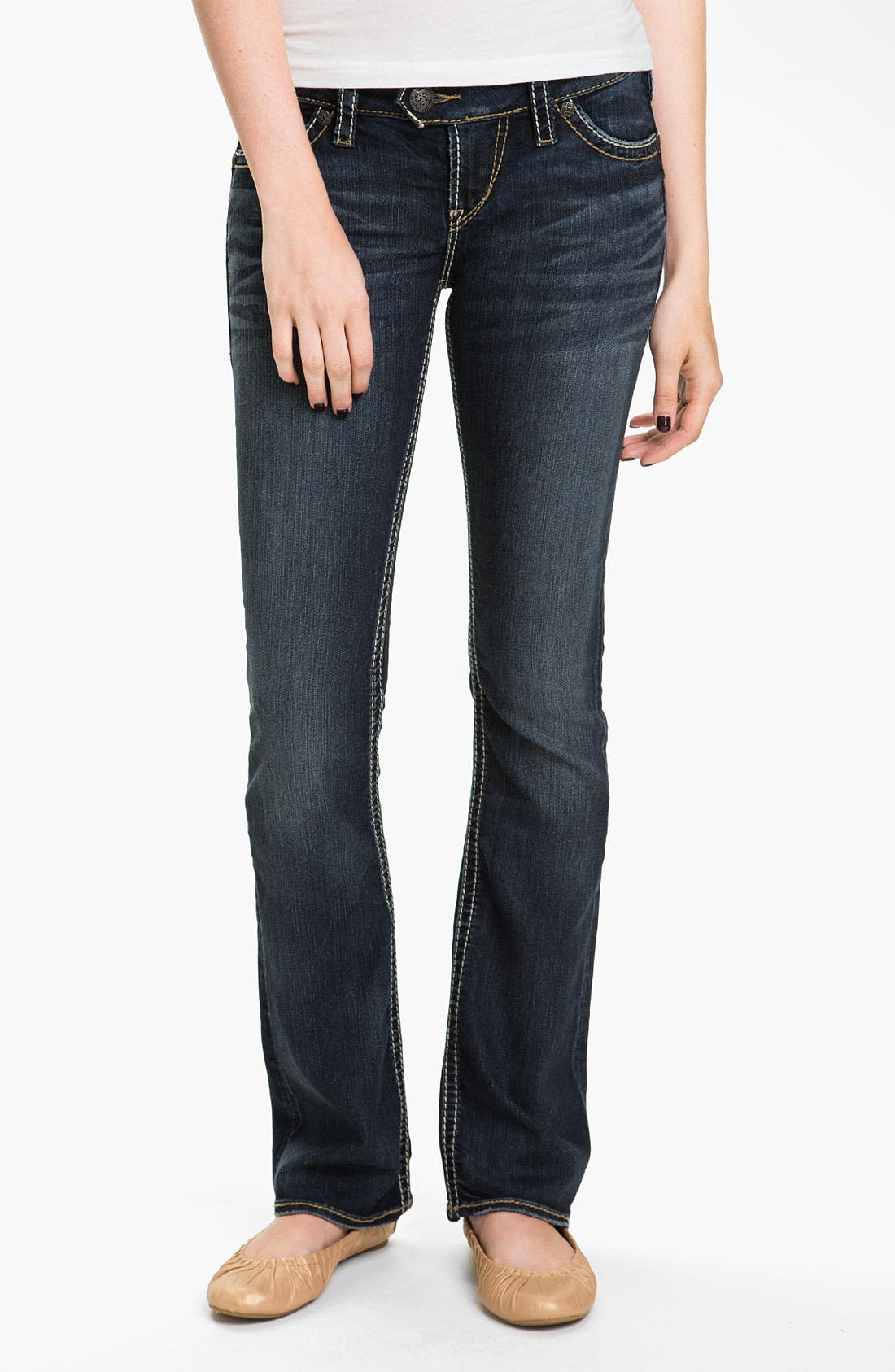 Alternate Image 2  - Silver Jeans Co. 'Tuesday' Bootcut Jeans (Juniors)