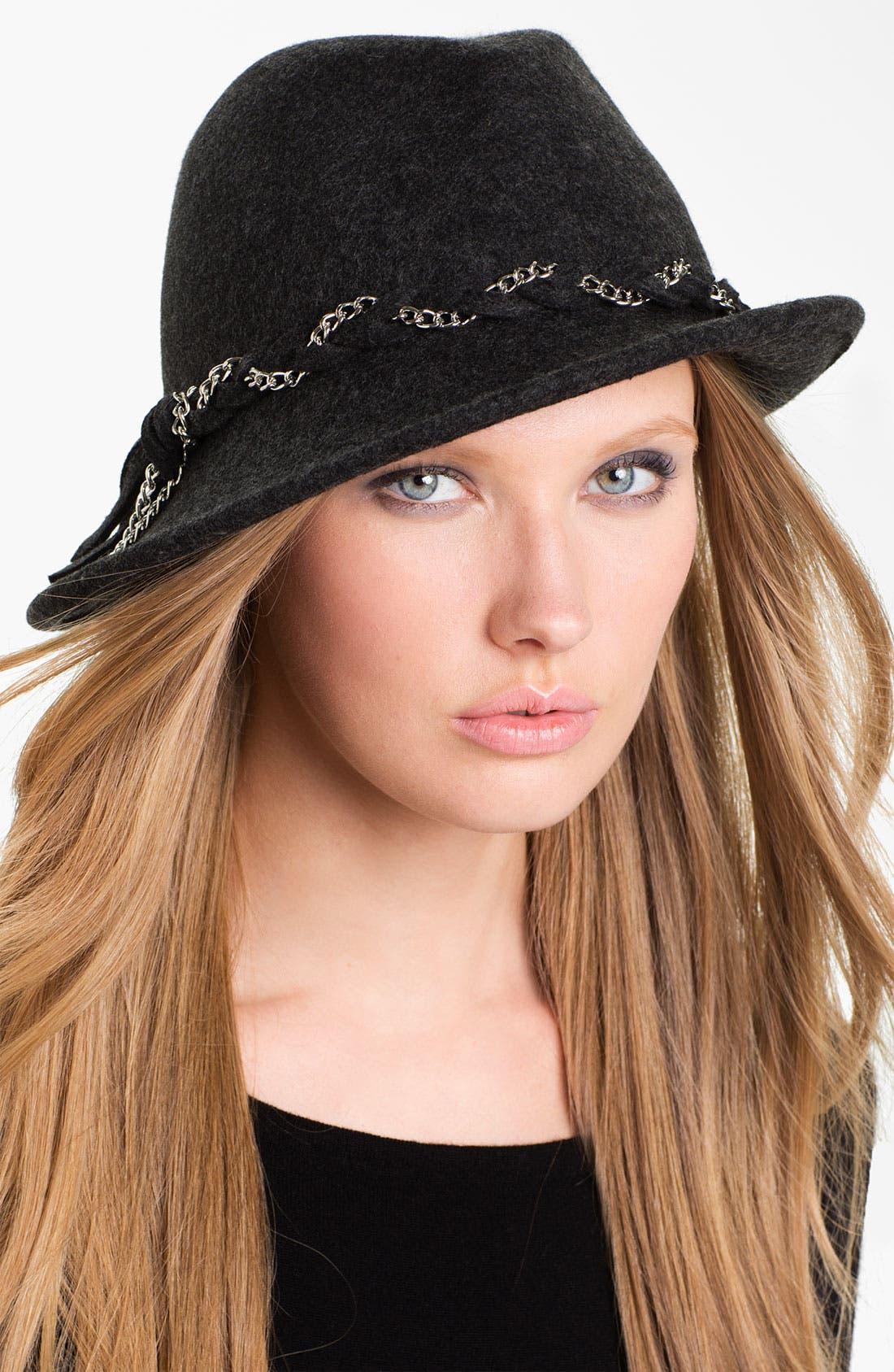 Main Image - San Diego Hat Chain Braided Wool Fedora