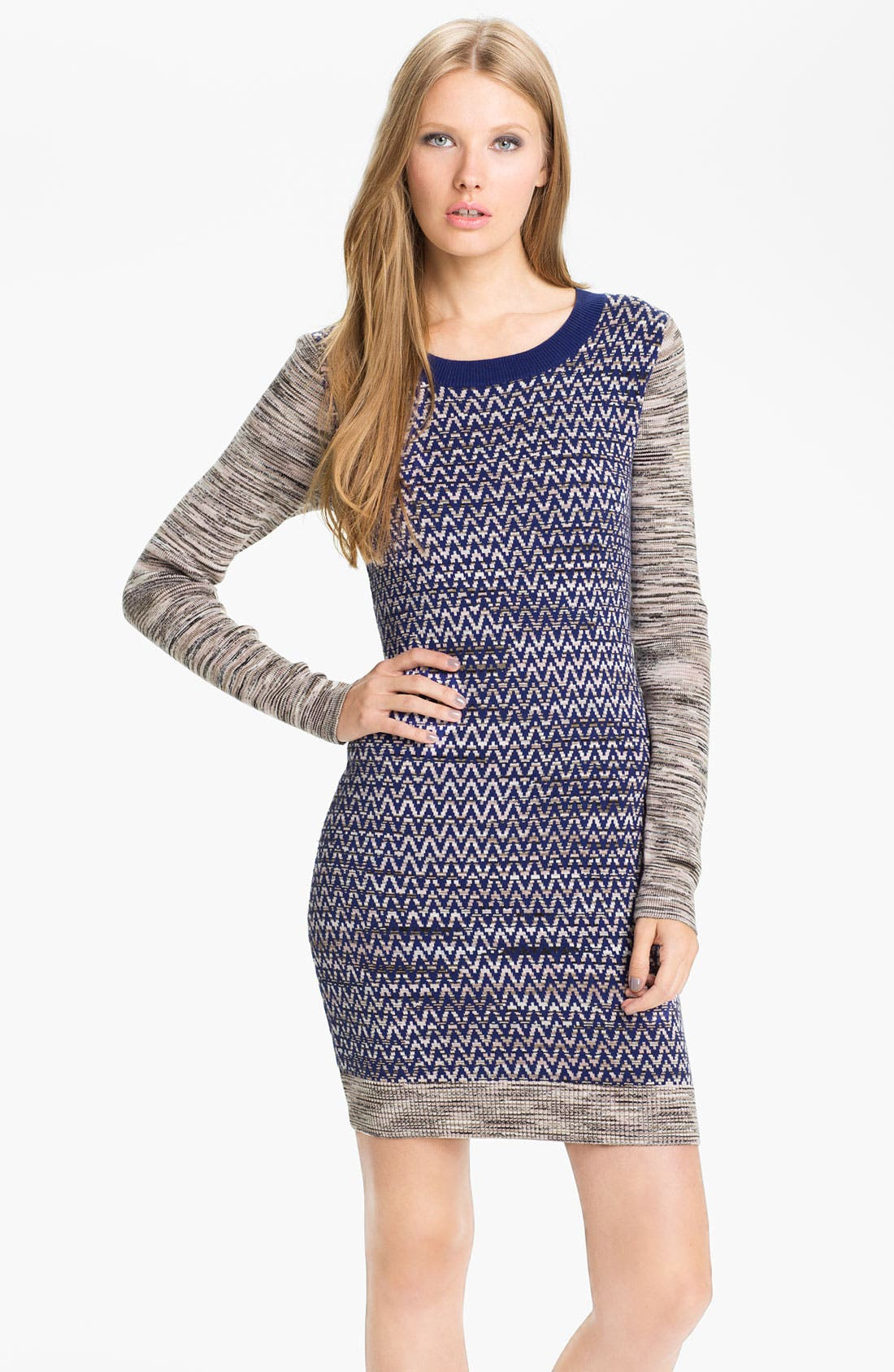 Main Image - French Connection 'Space Baby Knits' Chevron Sweater Dress