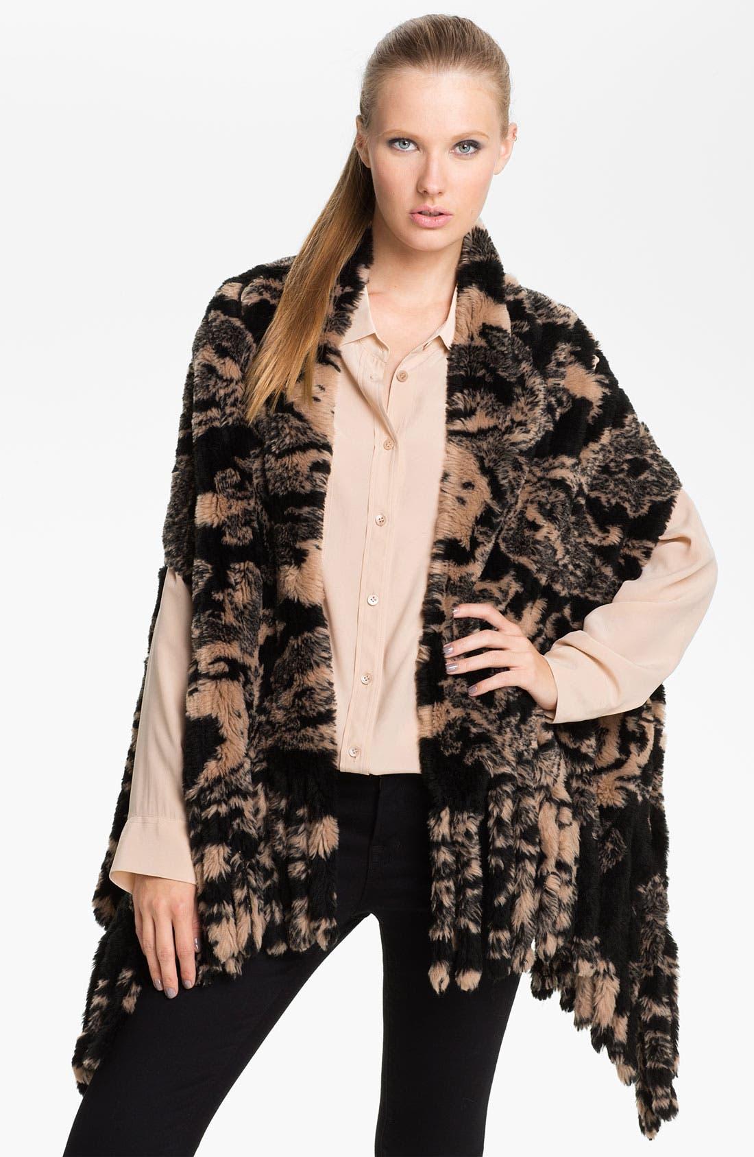 Alternate Image 1 Selected - Nordstrom 'Baroque' Faux Fur Vest