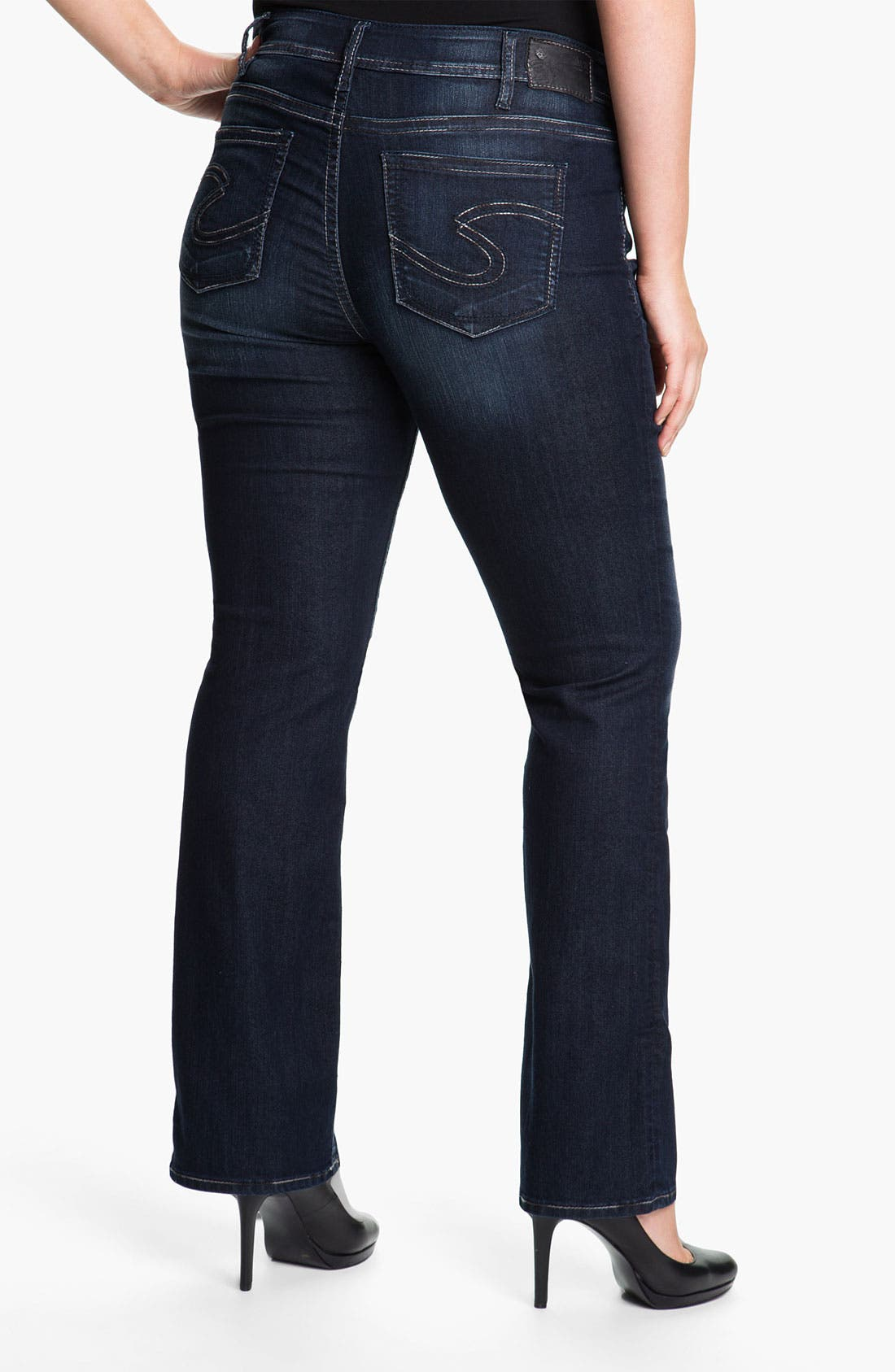 Alternate Image 2  - Silver Jeans Co. 'Baby Boot' Bootcut Jeans (Juniors Plus)