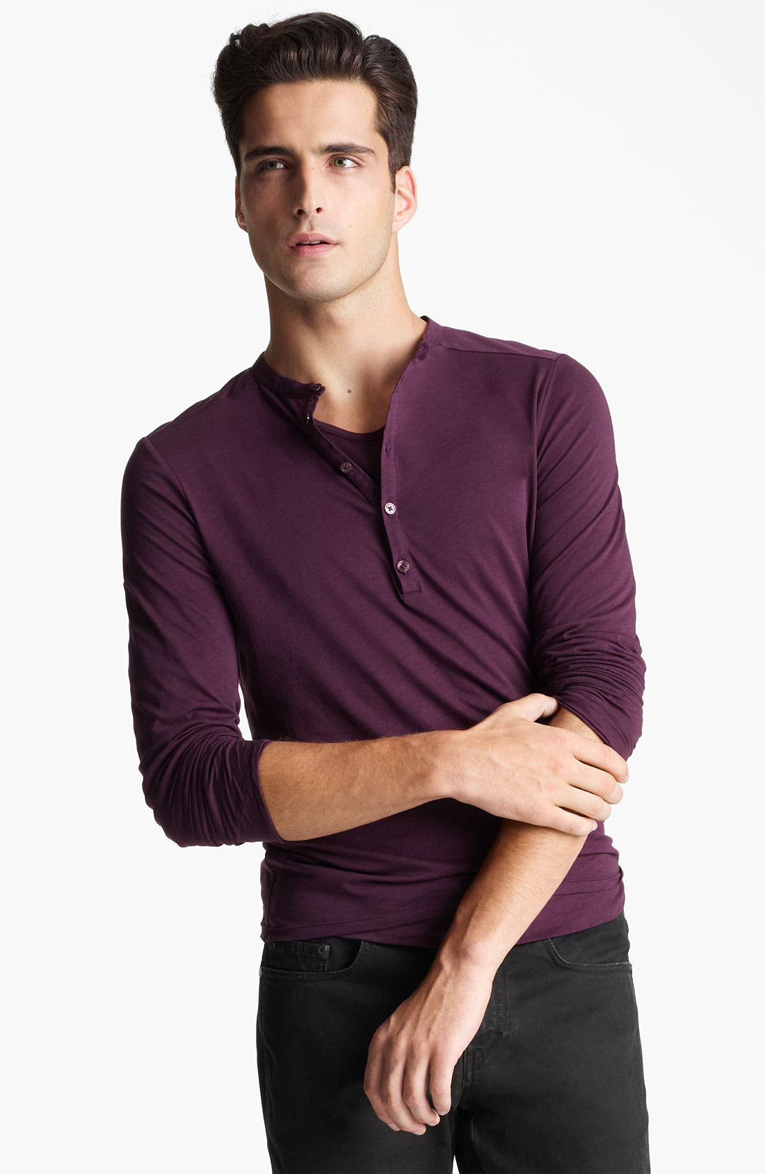 Alternate Image 1 Selected - Z Zegna Double Layer Henley