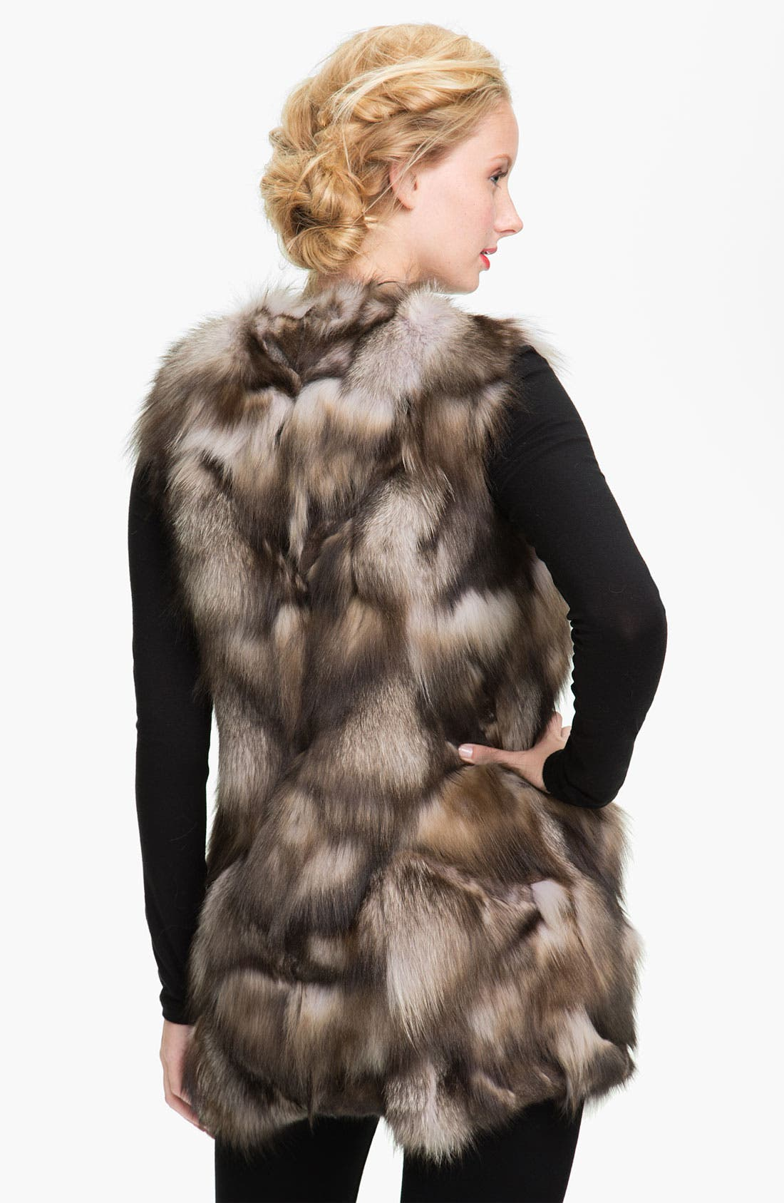 Alternate Image 2  - Linda Richards Fox Fur Vest