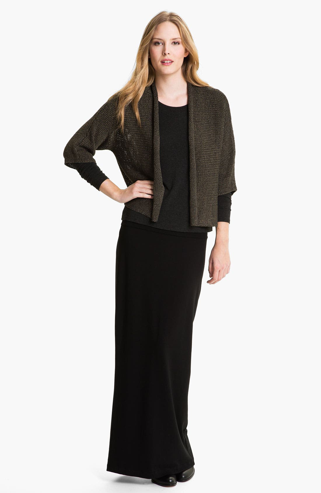 Alternate Image 4  - Eileen Fisher Open Front Cardigan
