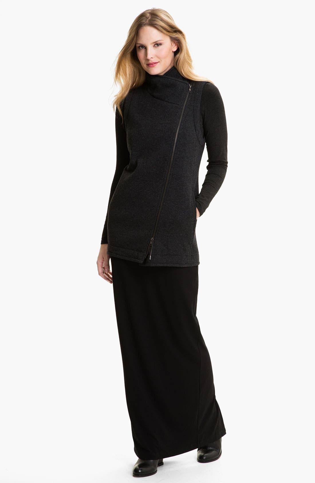 Alternate Image 4  - Eileen Fisher 'Fluffy Fleece' Long Vest