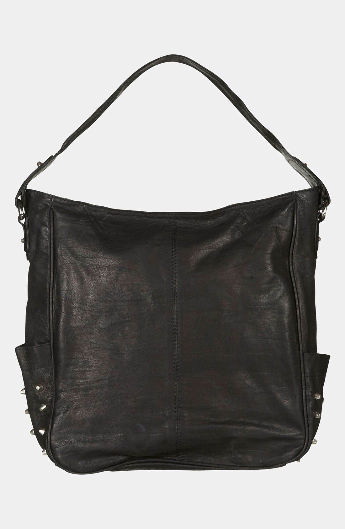 Alternate Image 2  - Topshop Studded Leather Hobo