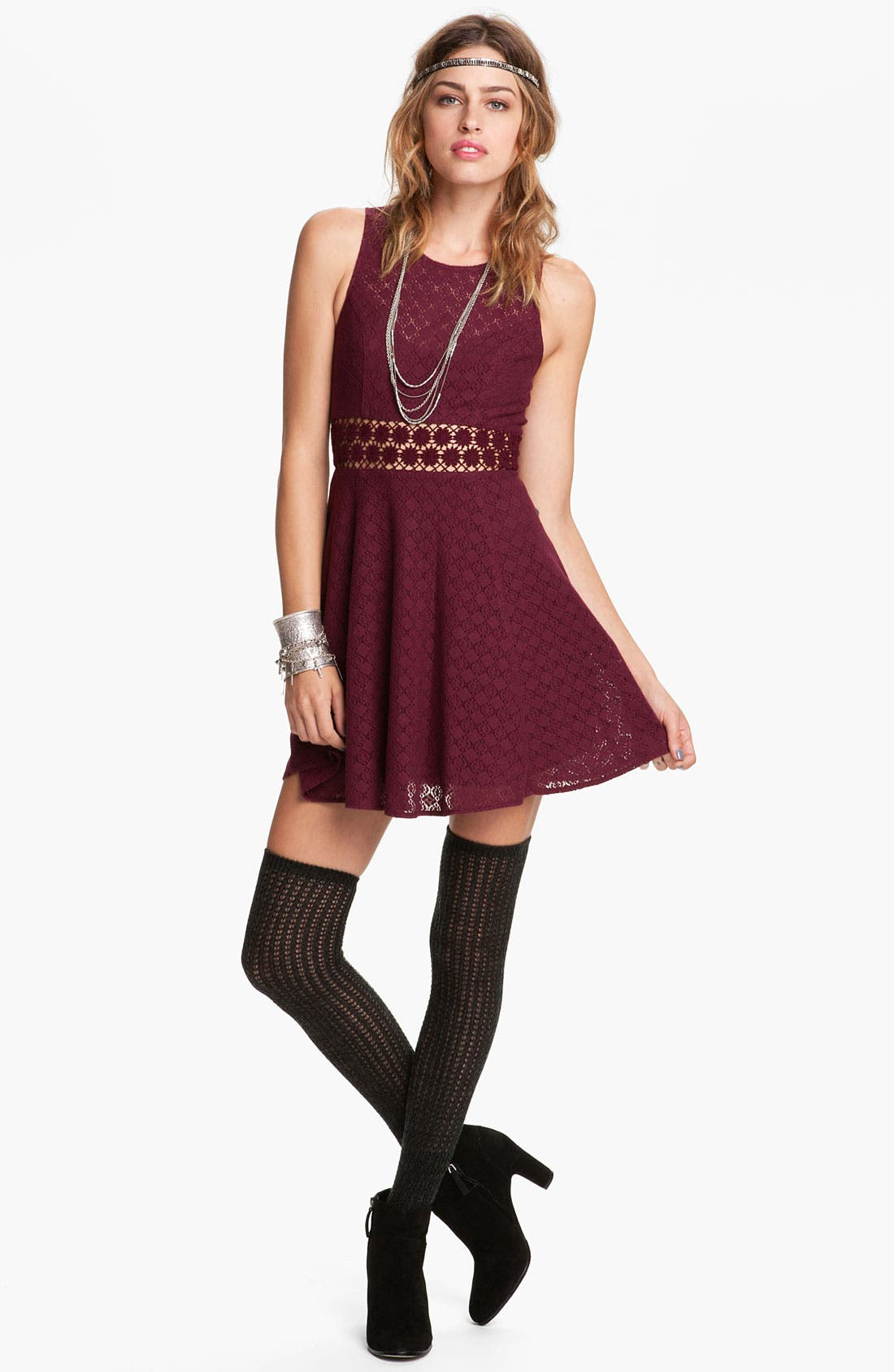 Main Image - Free People Crochet Daisy Dress