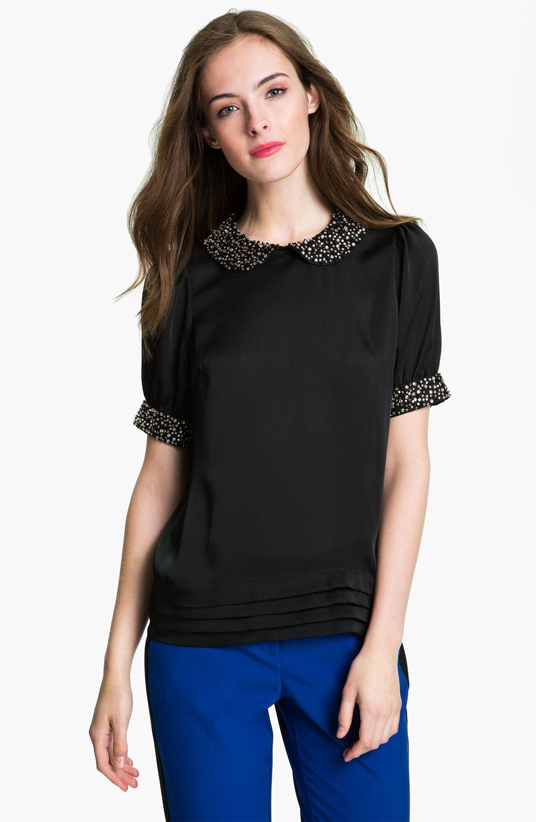 Alternate Image 1 Selected - Vince Camuto Jewel Trim Blouse with Camisole