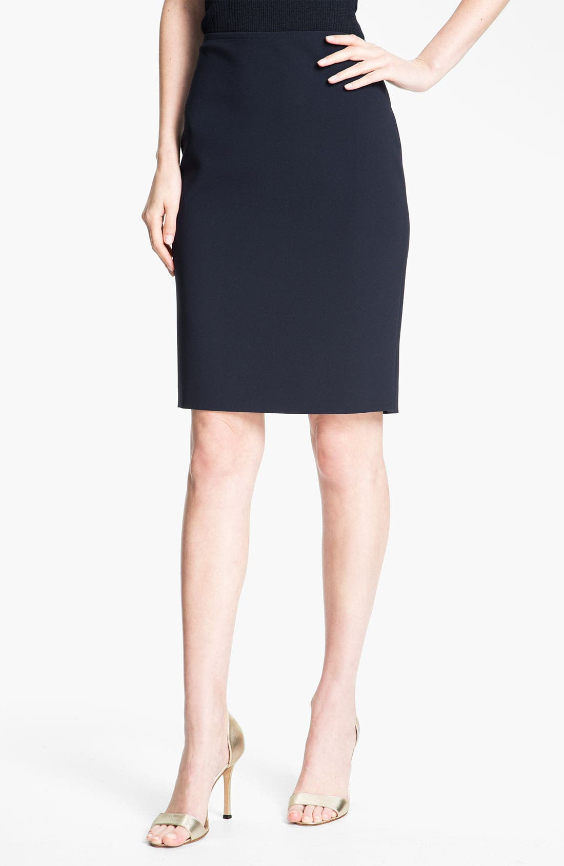Alternate Image 1 Selected - St. John Collection Crepe Marocain Pencil Skirt