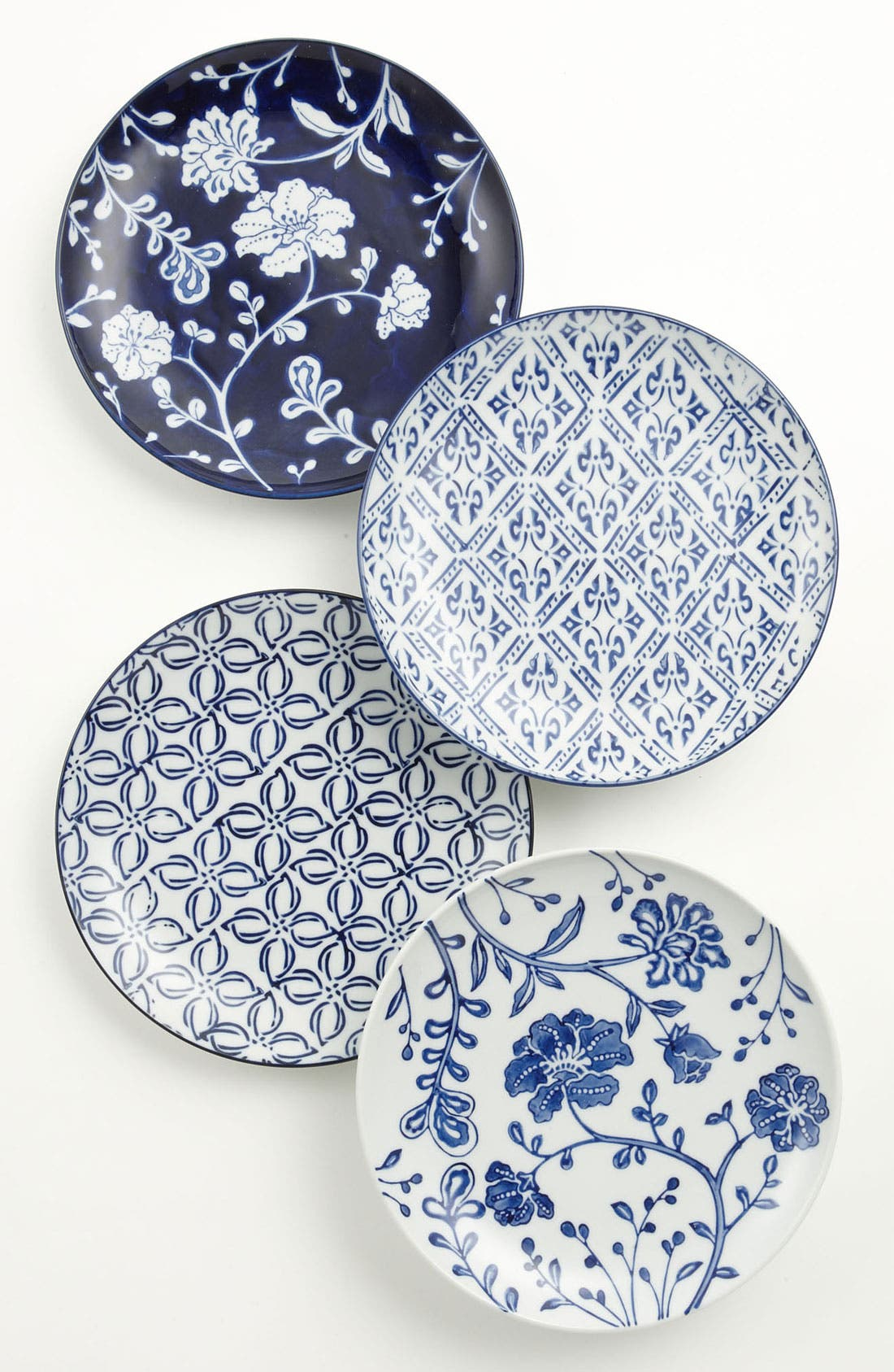 Alternate Image 1 Selected - Mixed Pattern Dessert Plates (Set of 4)