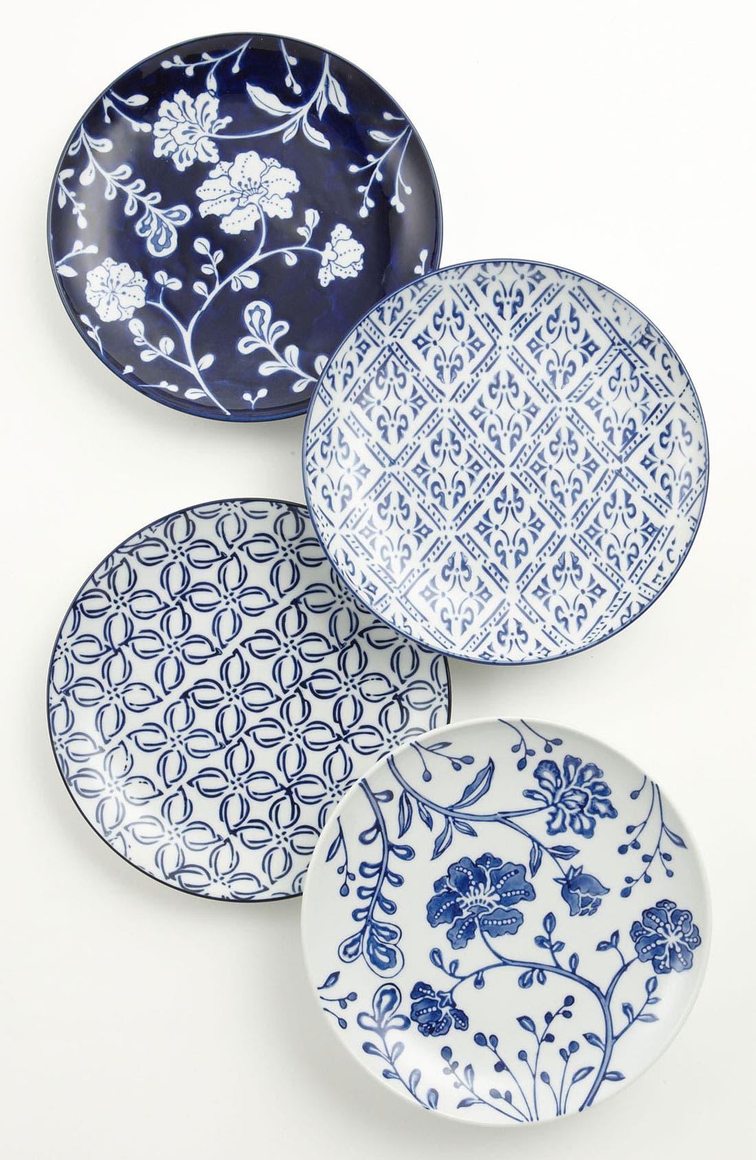 Main Image - Mixed Pattern Dessert Plates (Set of 4)